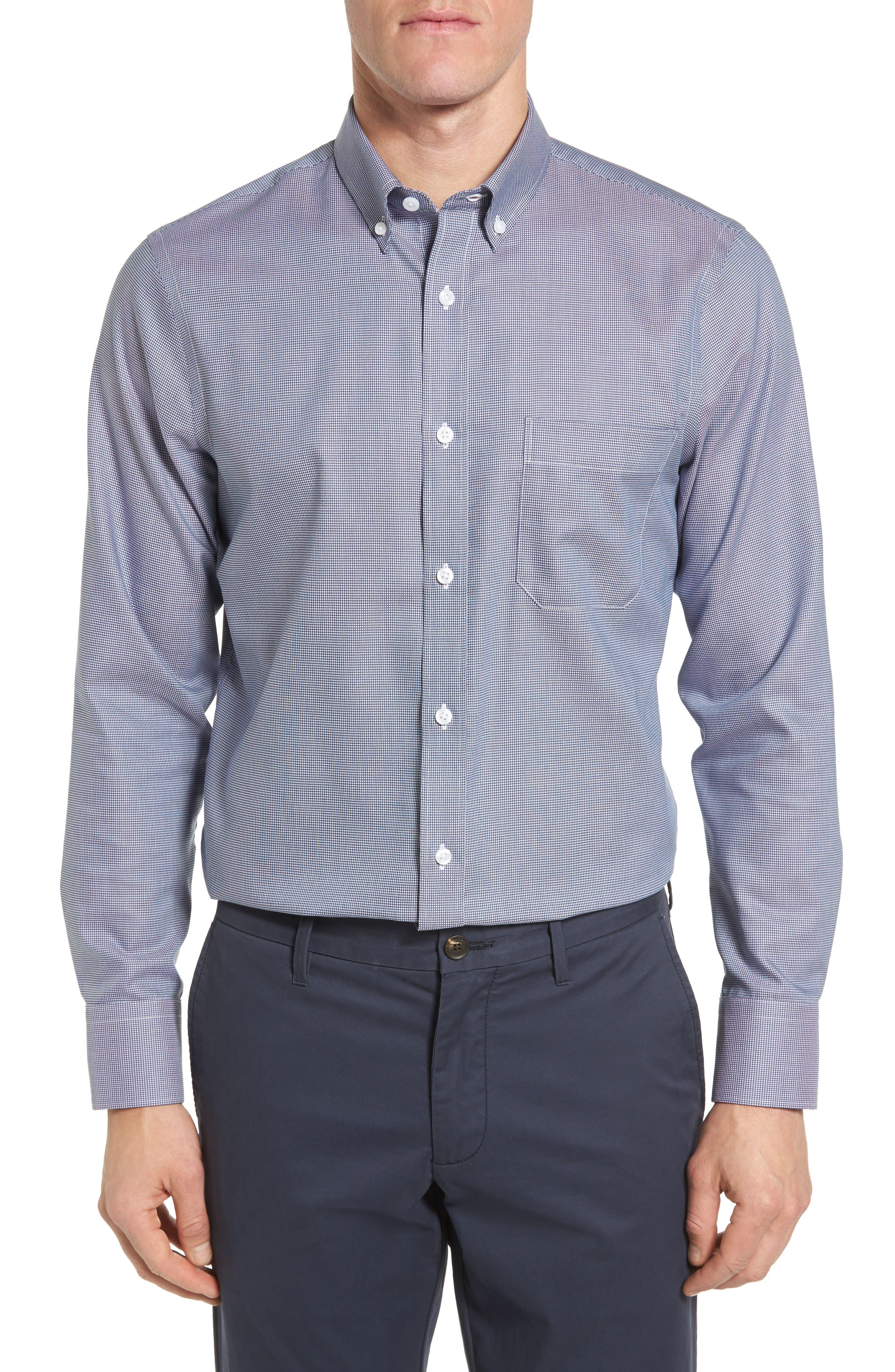 Nordstrom Men's Shop Smartcare™ Regular Fit Sport Shirt (Big)