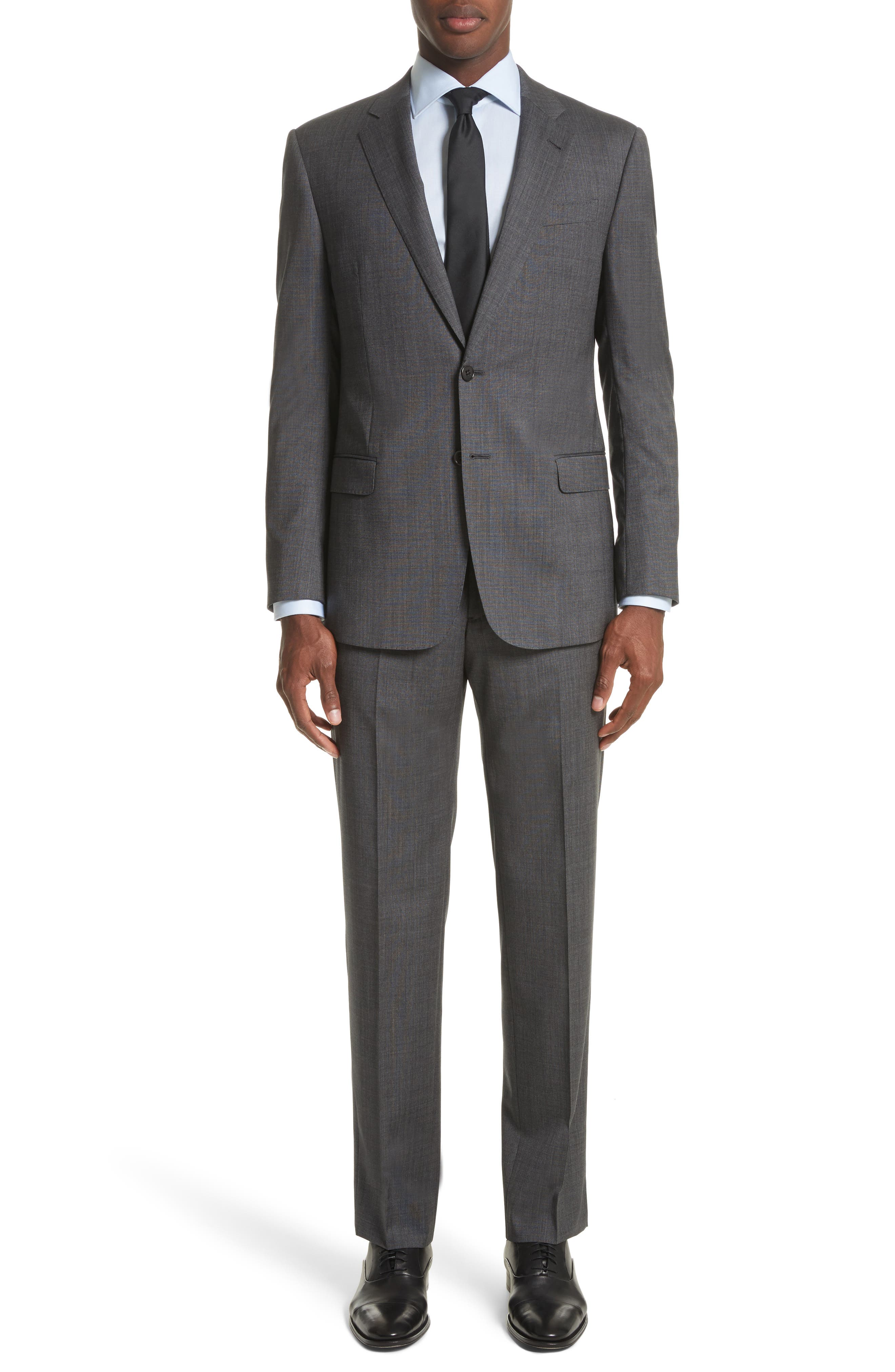 Armani Collezioni Trim Fit Solid Wool Suit