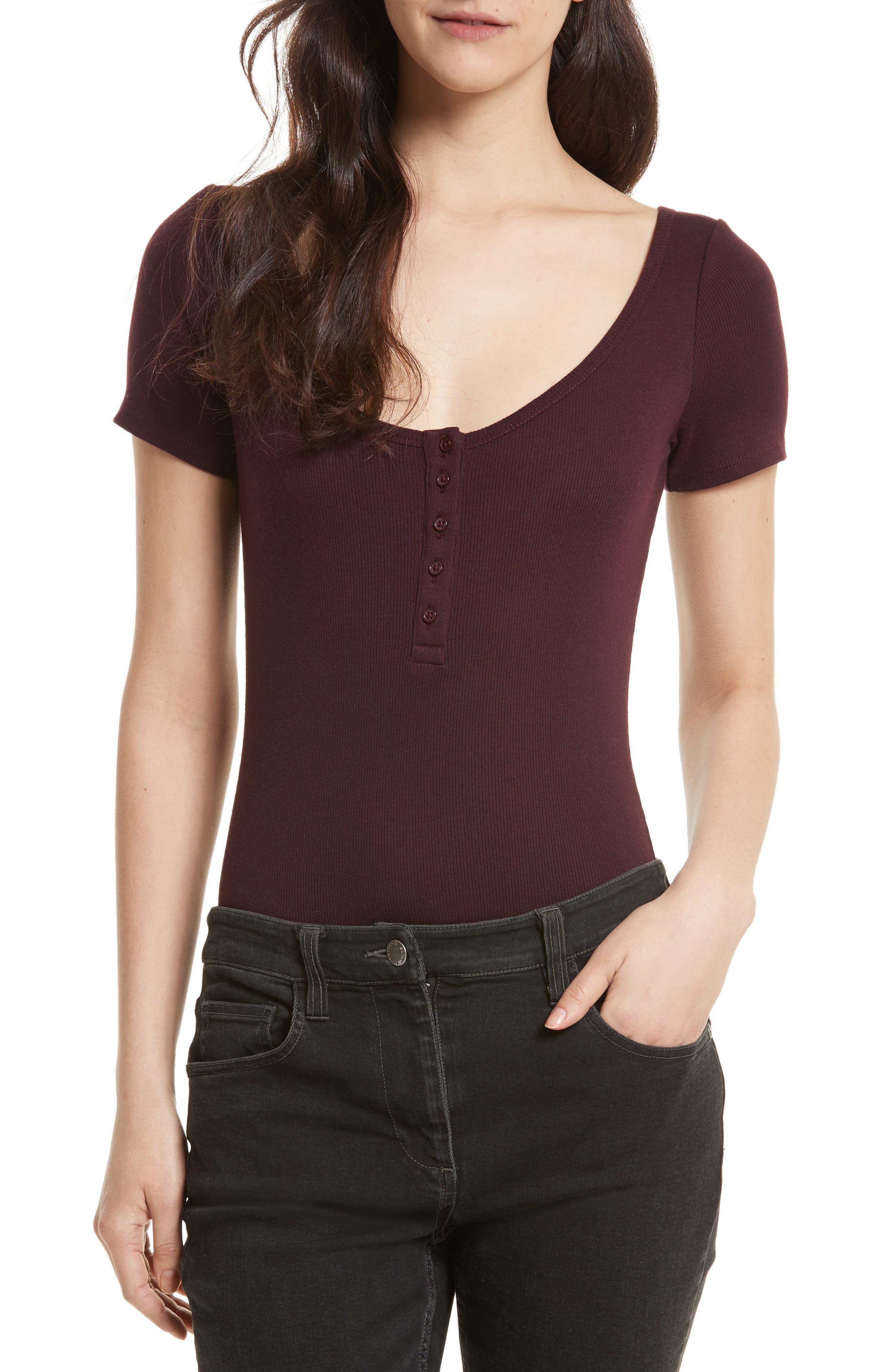 Rebecca Minkoff Parsnip Ribbed Bodysuit