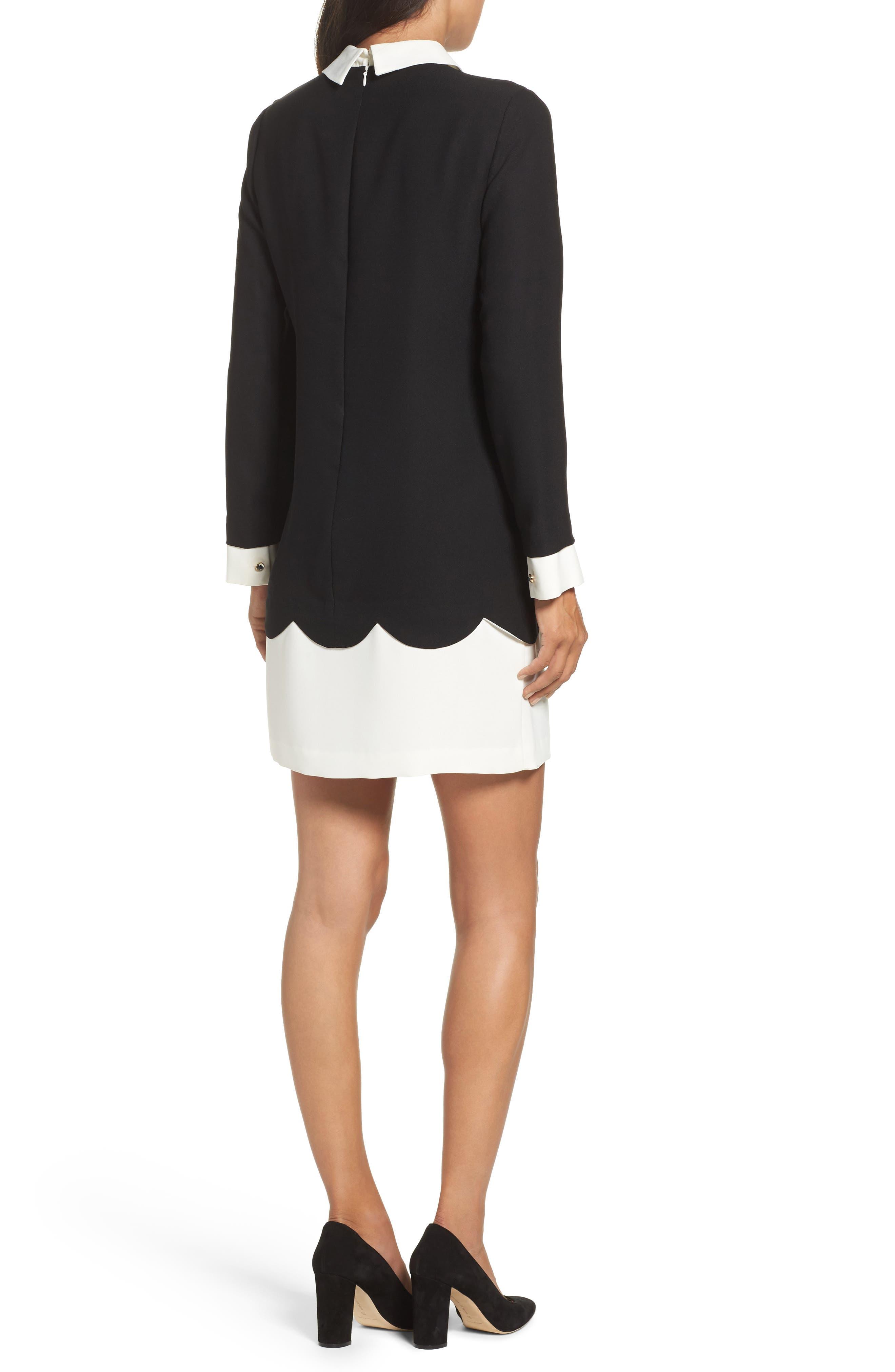 Alternate Image 2  - Cece Jada Scallop Shirtdress (Regular & Petite)