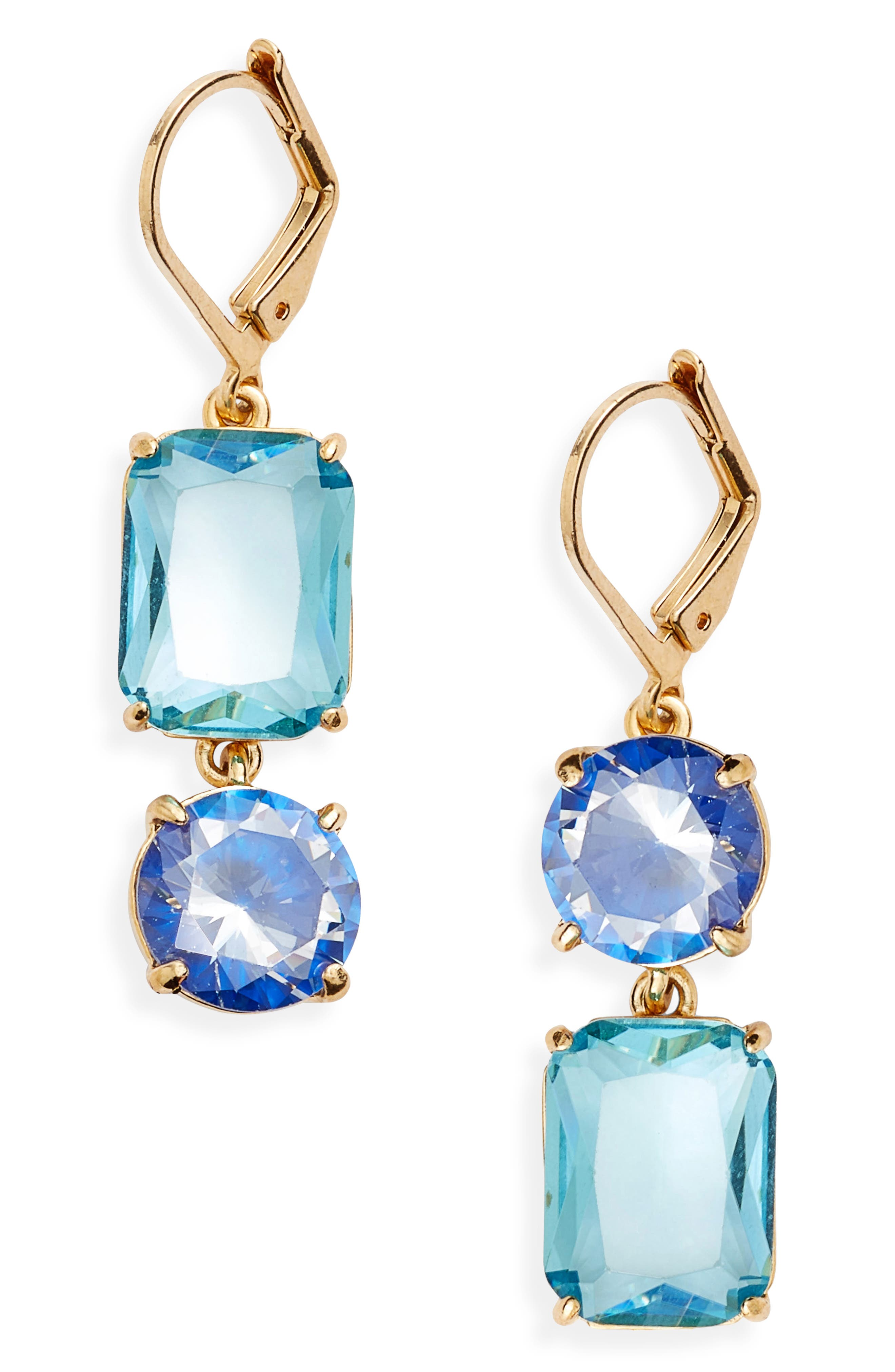 Alternate Image 1 Selected - kate spade shine on mismatched drop earrings