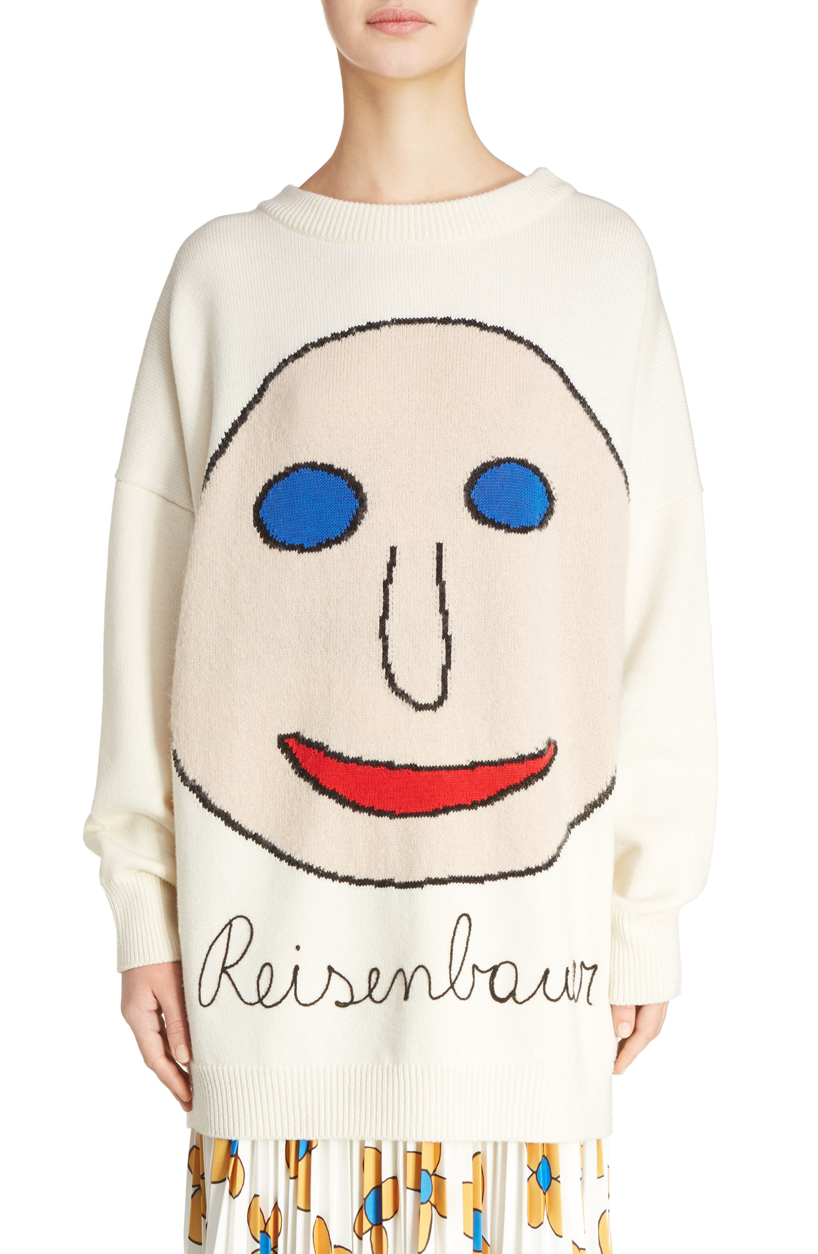 Christopher Kane Reisenbauer Intarsia Face Sweater