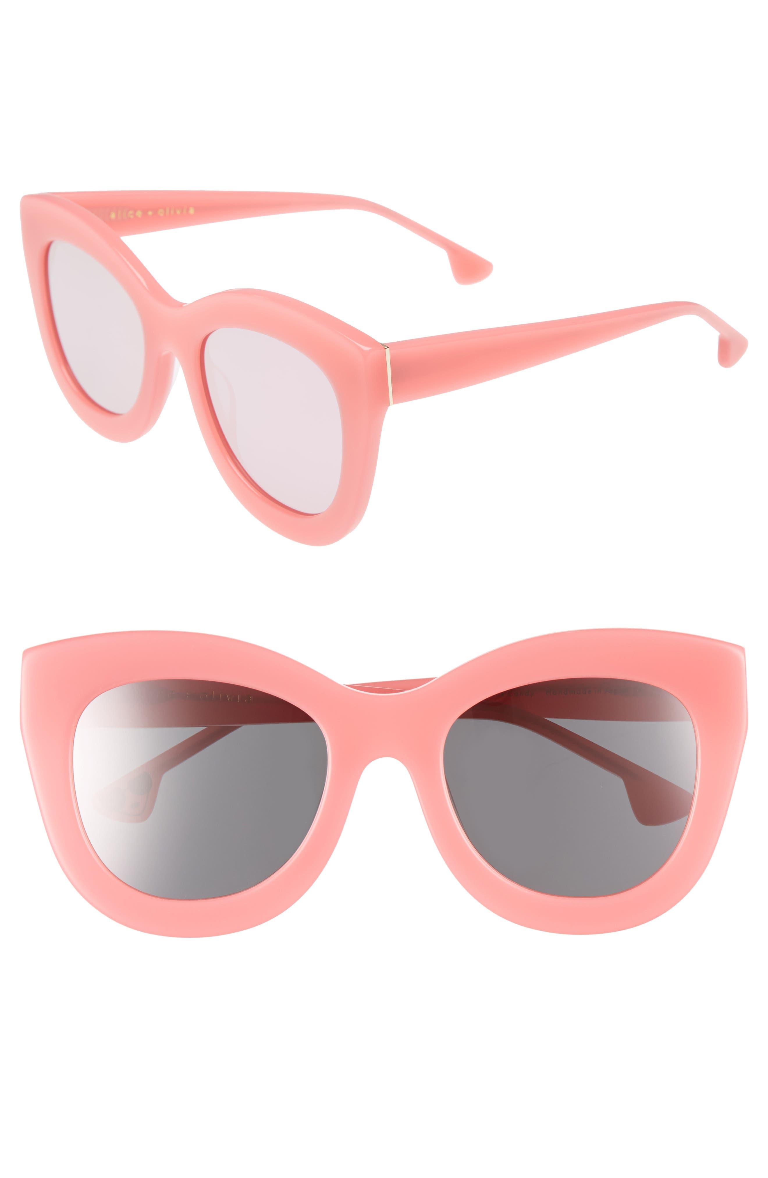 Alice + Olivia Madison 56mm Cat Eye Sunglasses