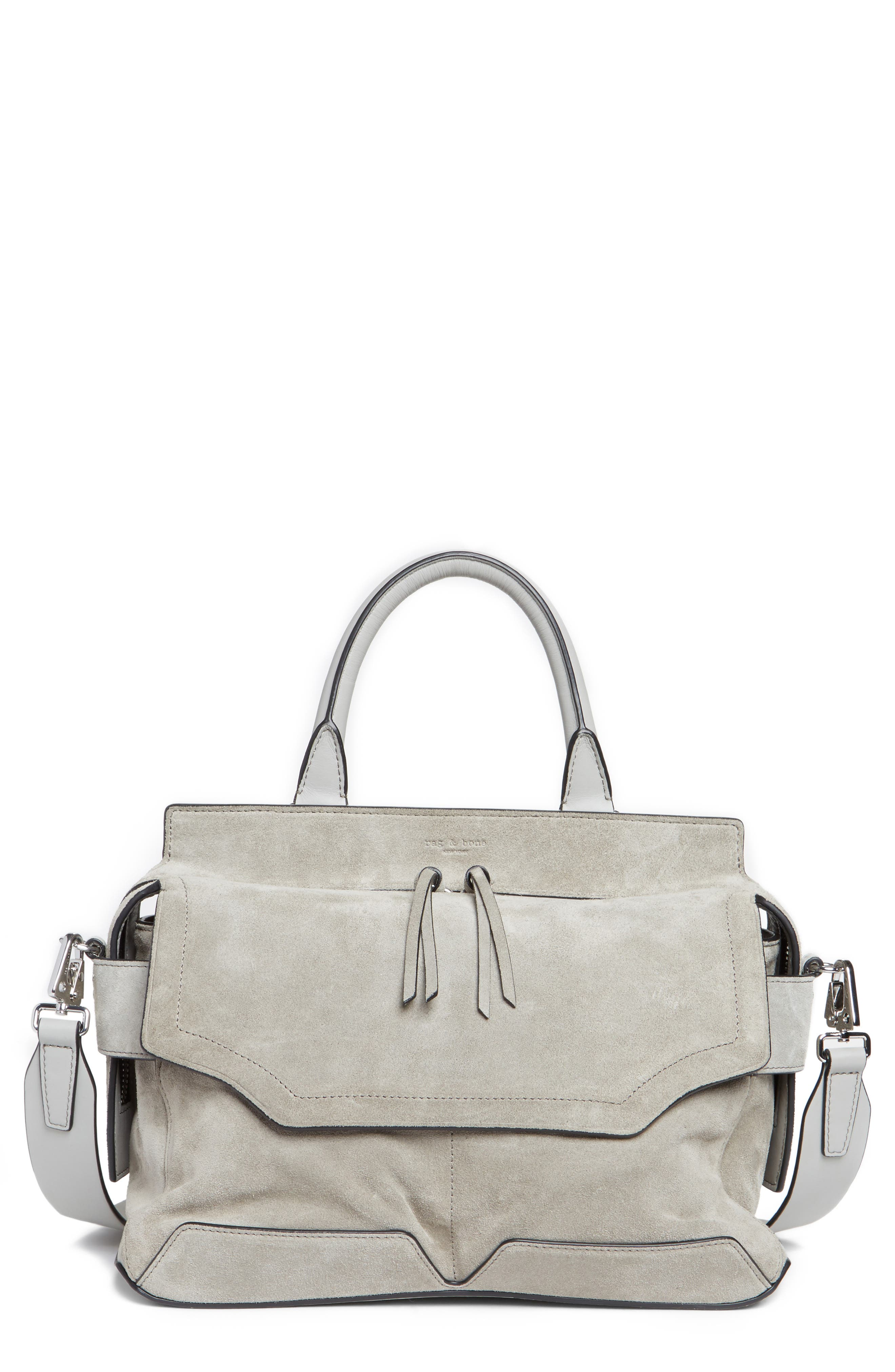 rag & bone Micro Pilot Suede & Leather Satchel