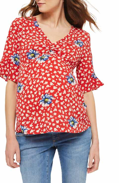 Topshop Ruby Floral Maternity Blouse