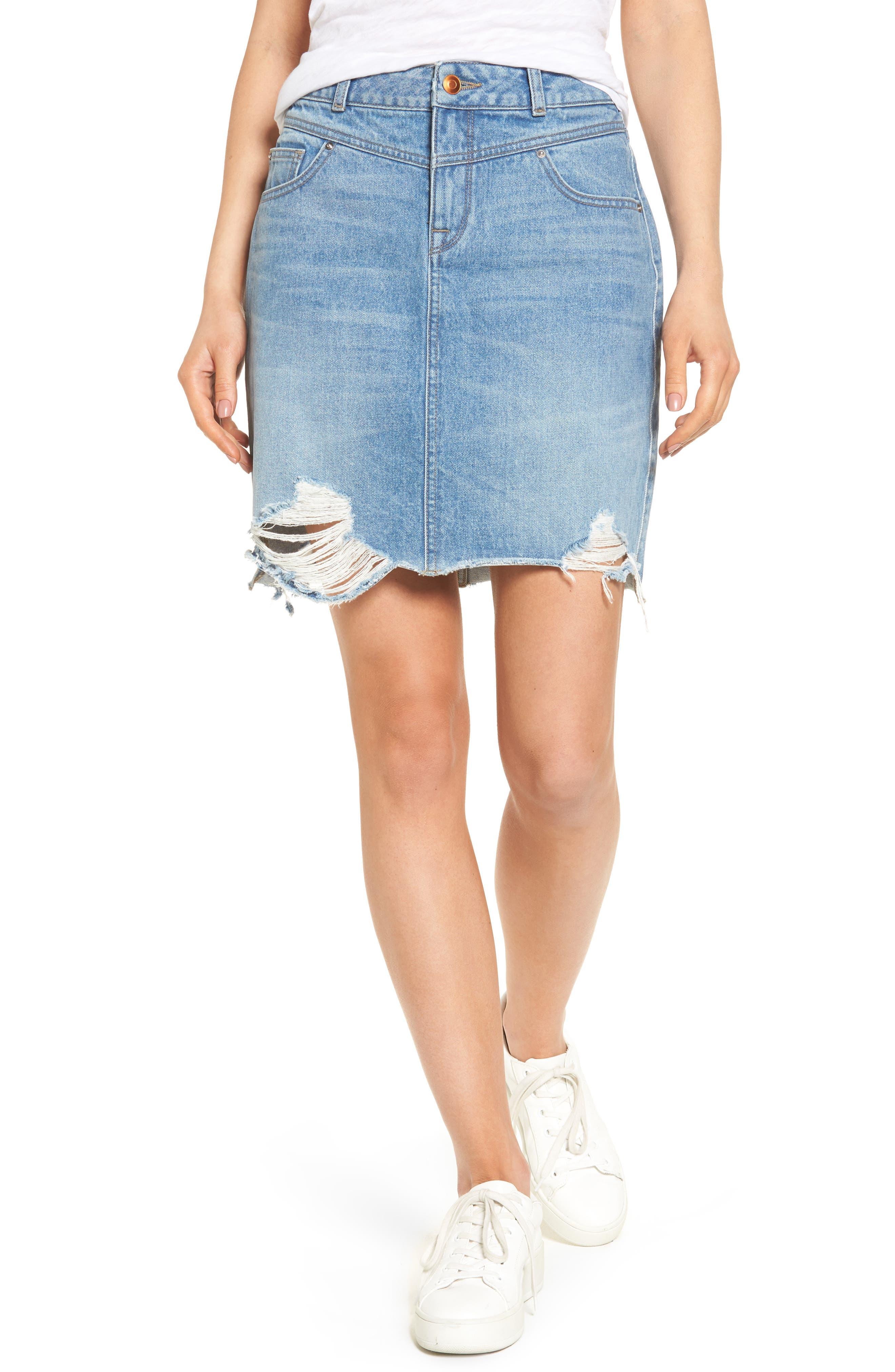 DL1961 Parker High Waist Denim Skirt (Kingly)