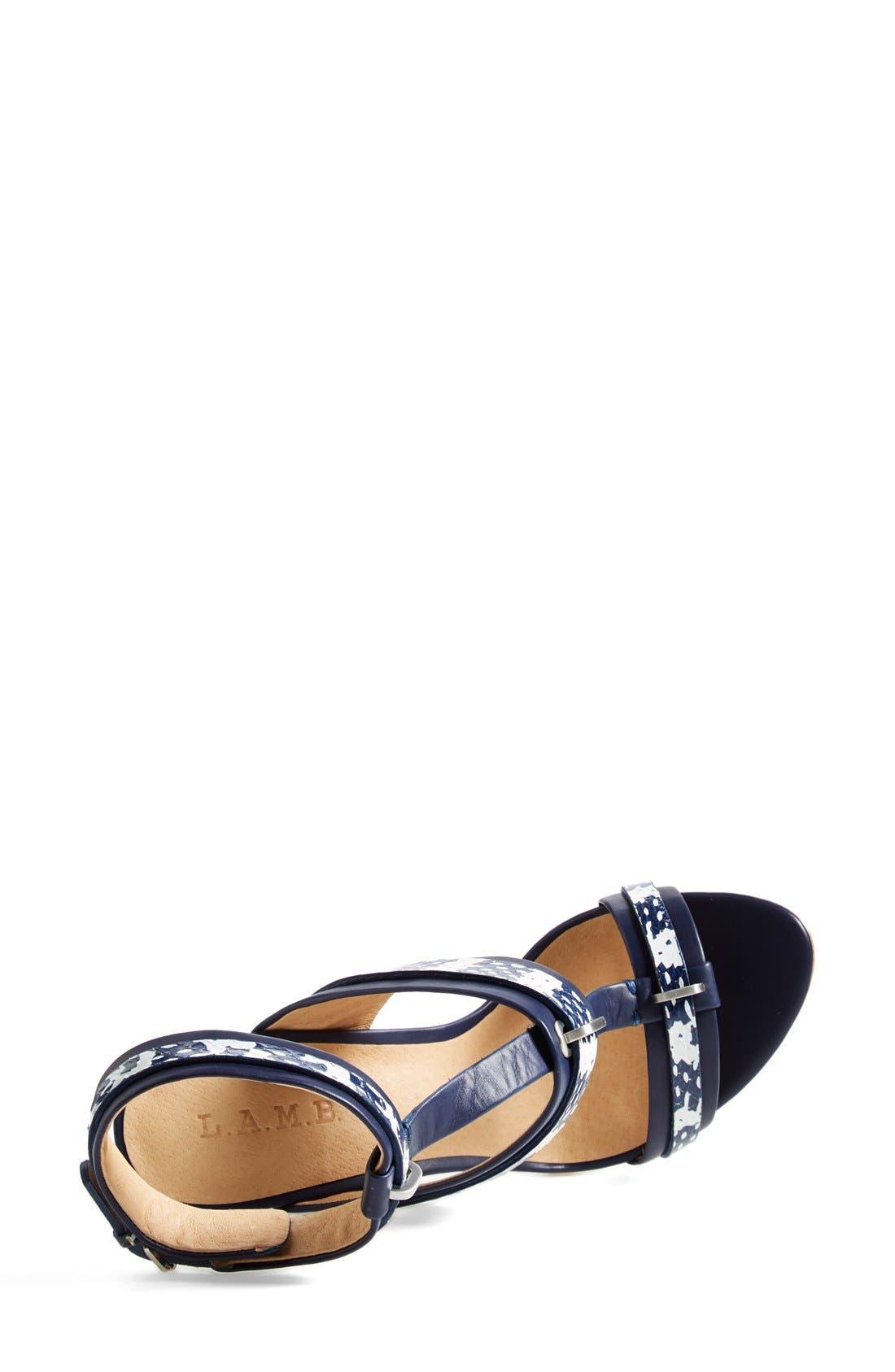 Alternate Image 3  - L.A.M.B. 'Bradley' T-Strap Sandal (Women)