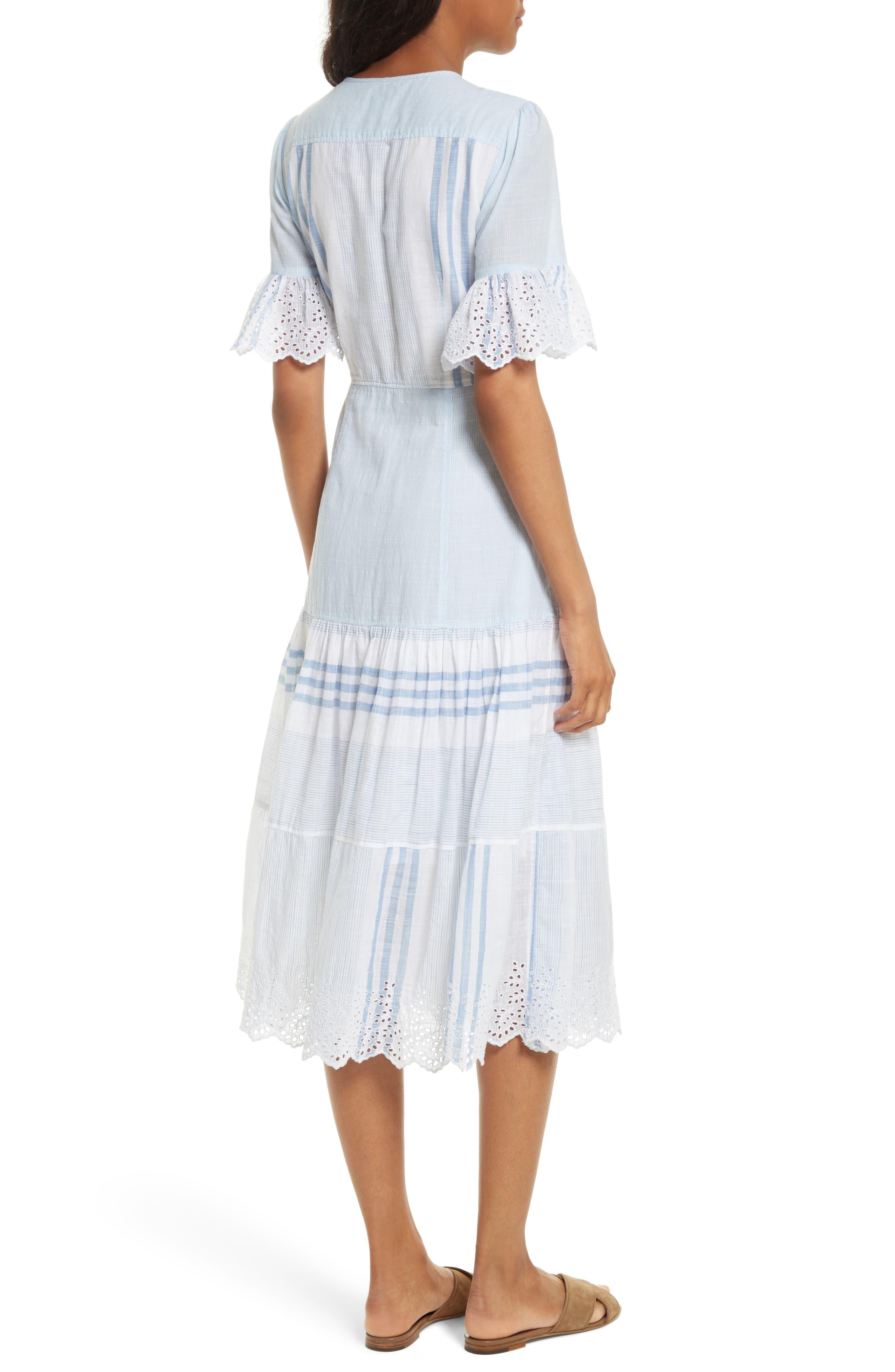 Alternate Image 2  - La Vie Rebecca Taylor Stripe Cotton Midi Dress