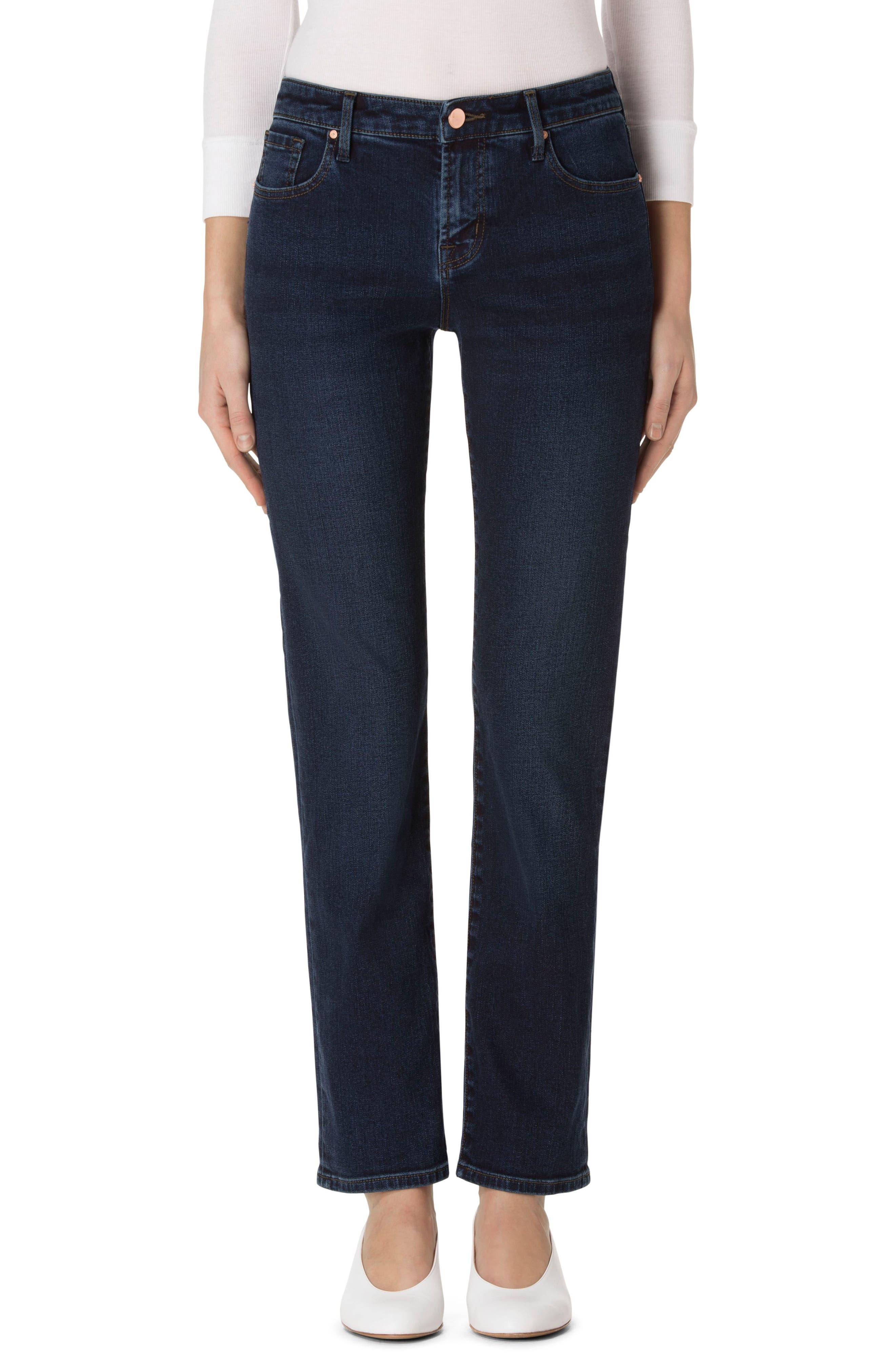 J Brand 'Amelia' Straight Leg Jeans (Throne)