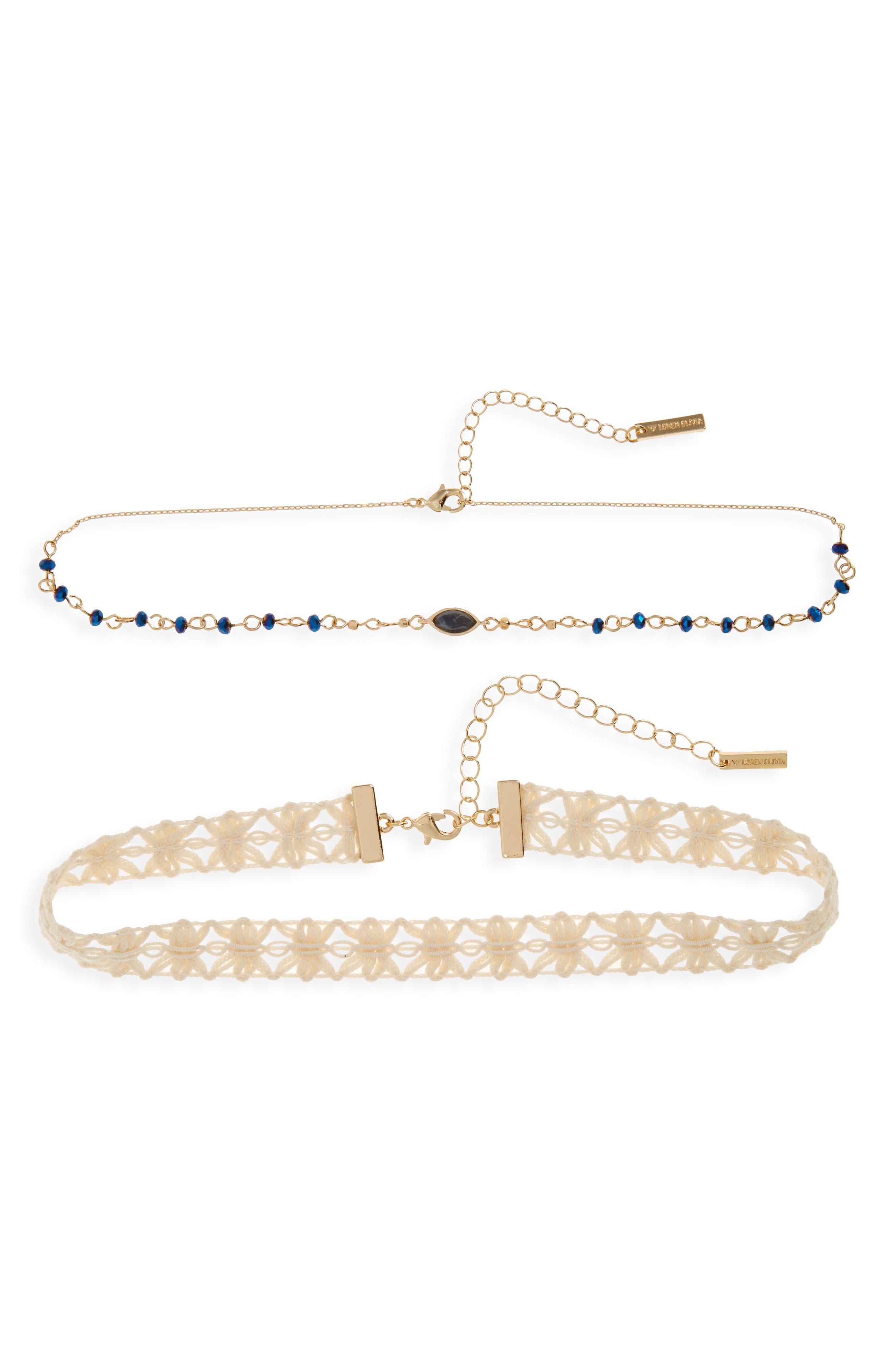 Loren Olivia Set of Two Choker Necklaces