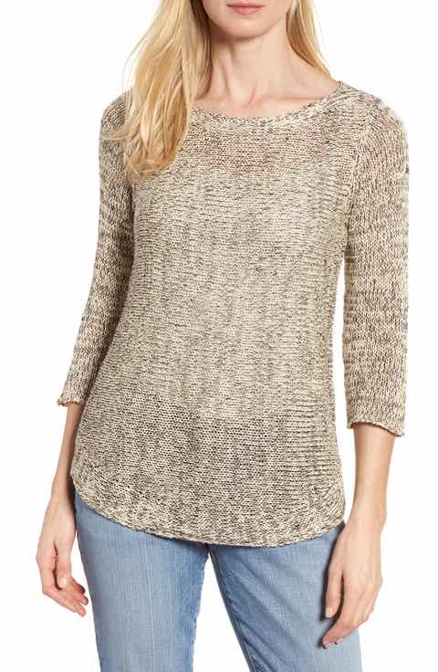 Eileen Fisher Organic Cotton   Linen Tunic Sweater
