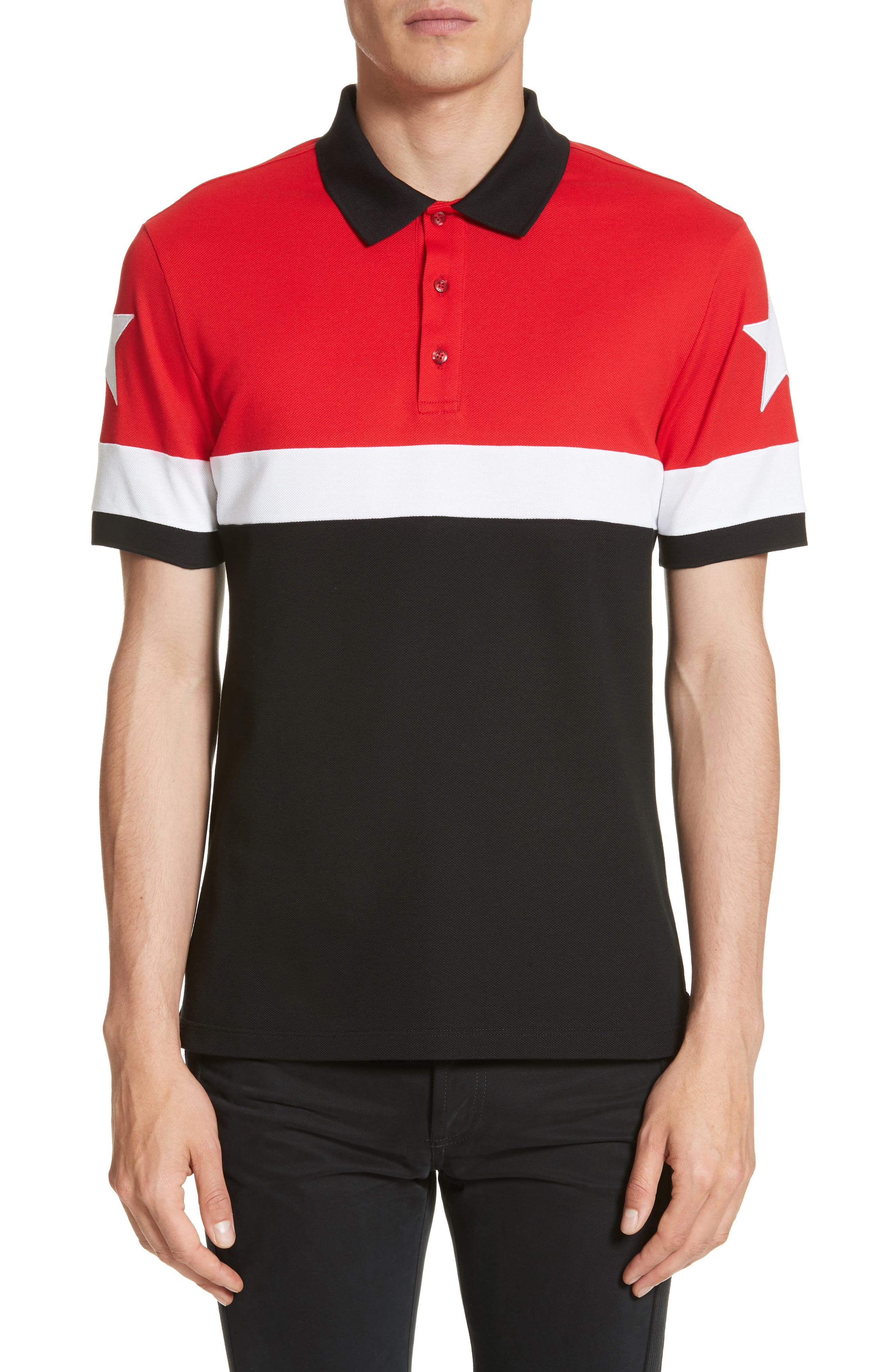 Givenchy Cuban Fit Stripe Polo