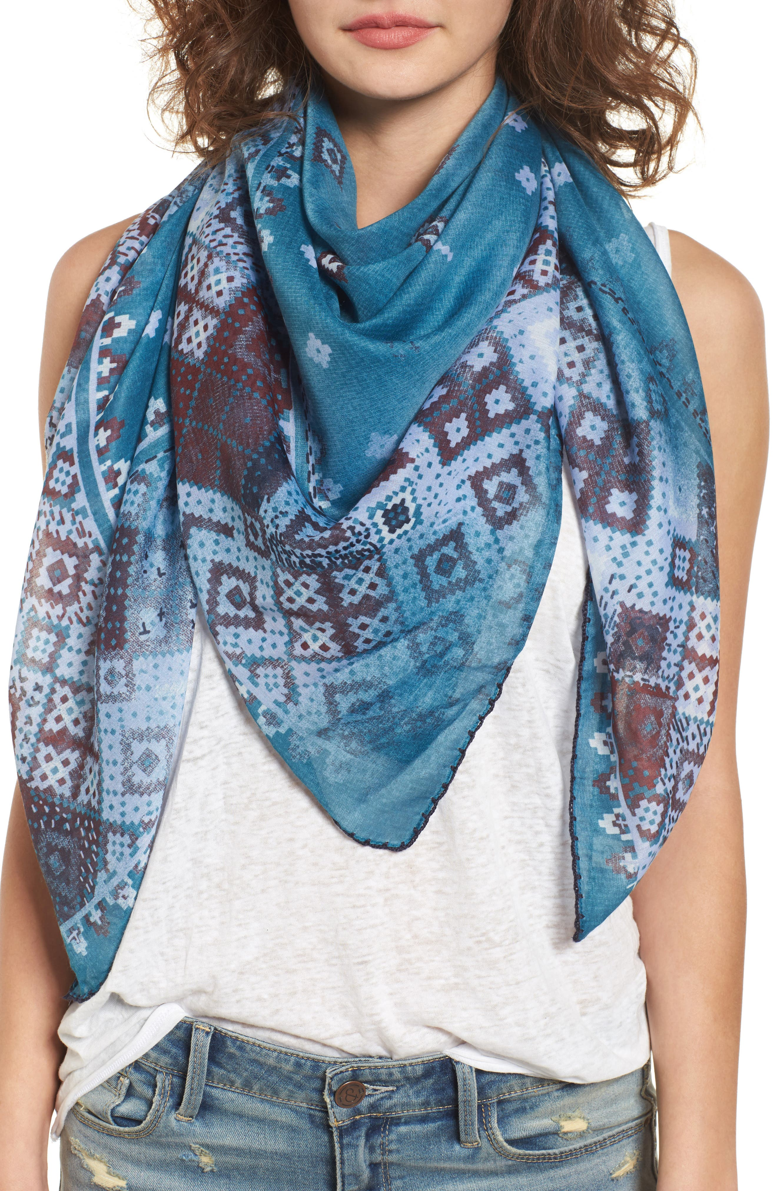 Treasure & Bond Geo Print Square Scarf