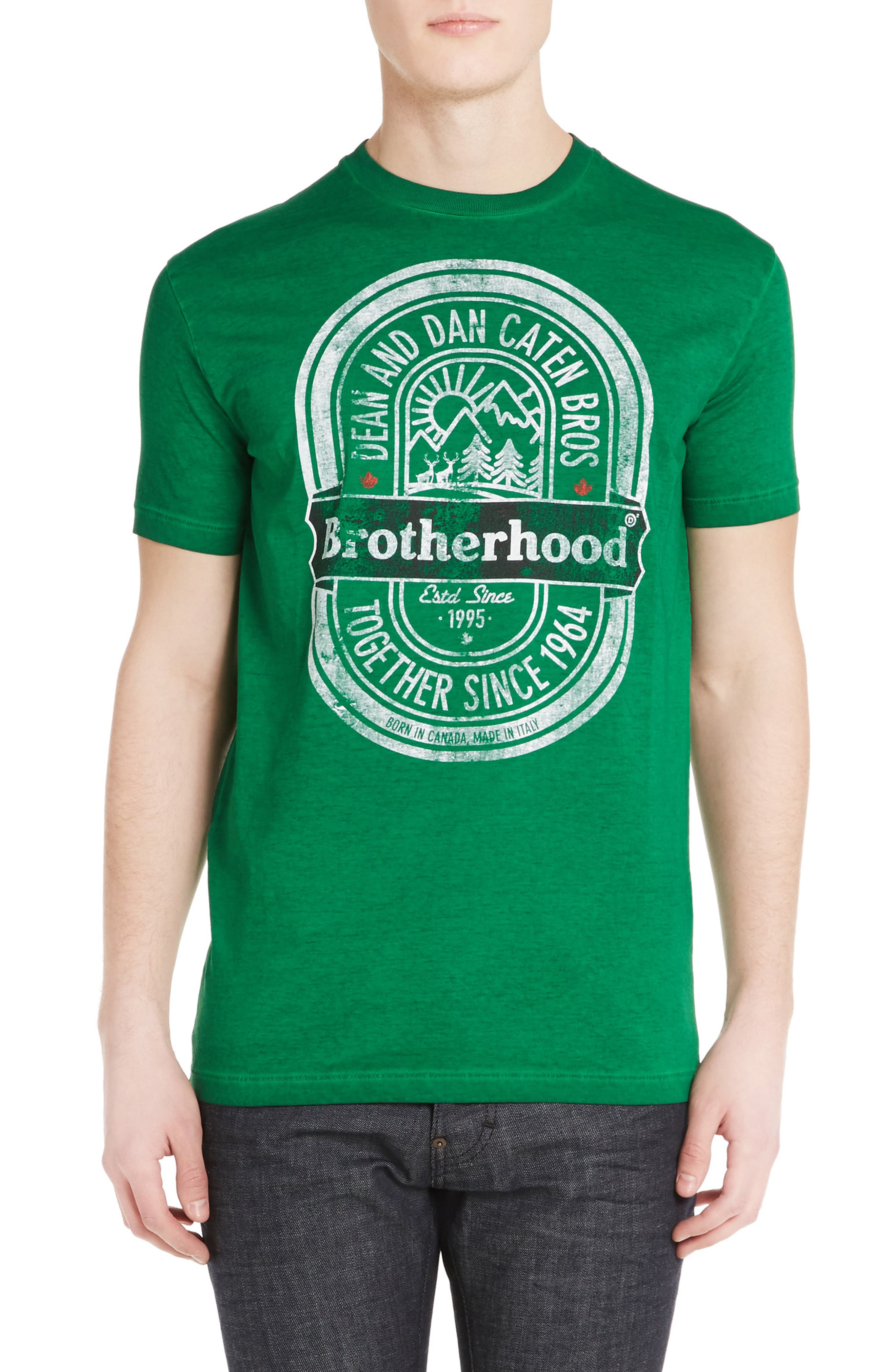 DSquared2 Brotherhood Beer T-Shirt