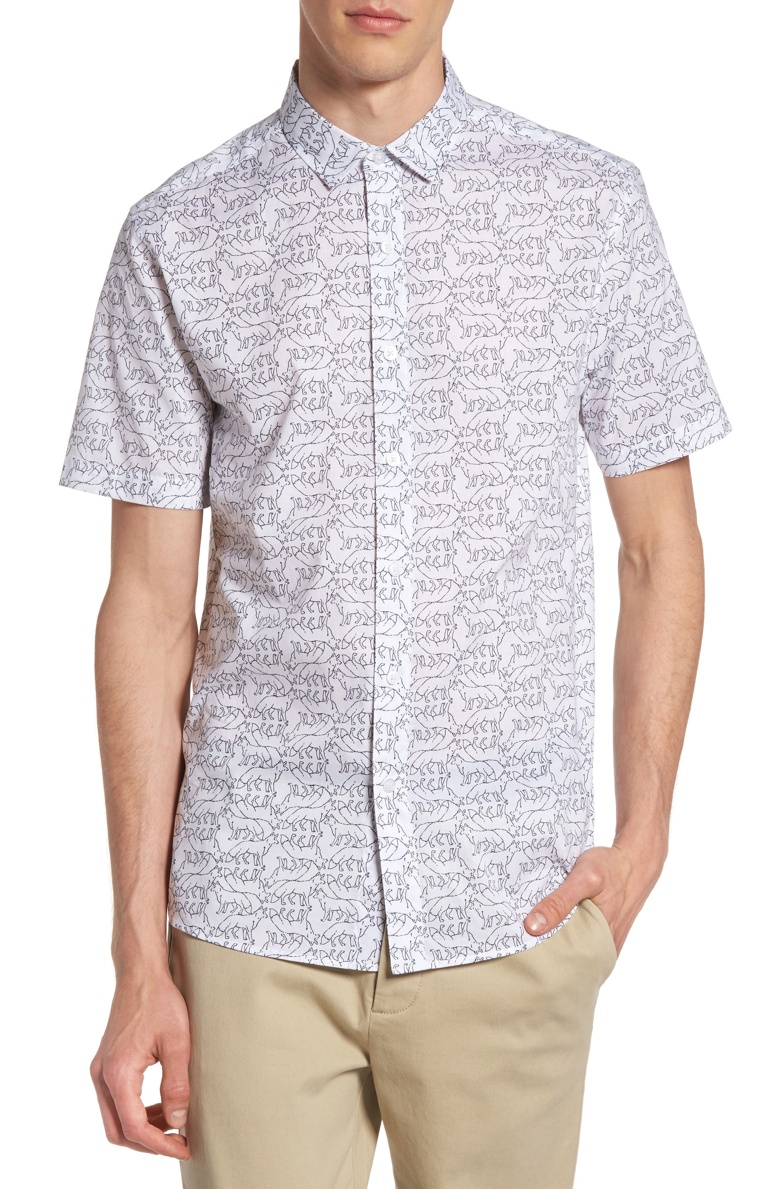 Topman Fox Print Shirt