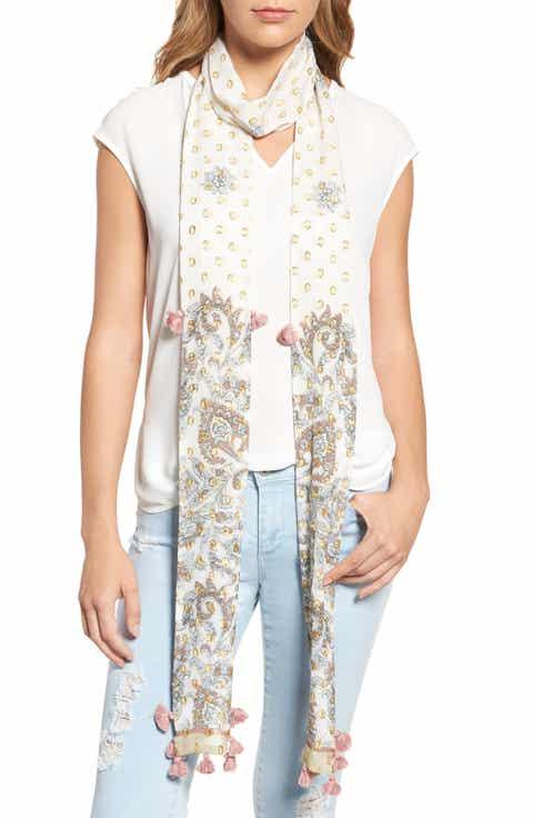 Rebecca Minkoff Floral Paisley Skinny Scarf