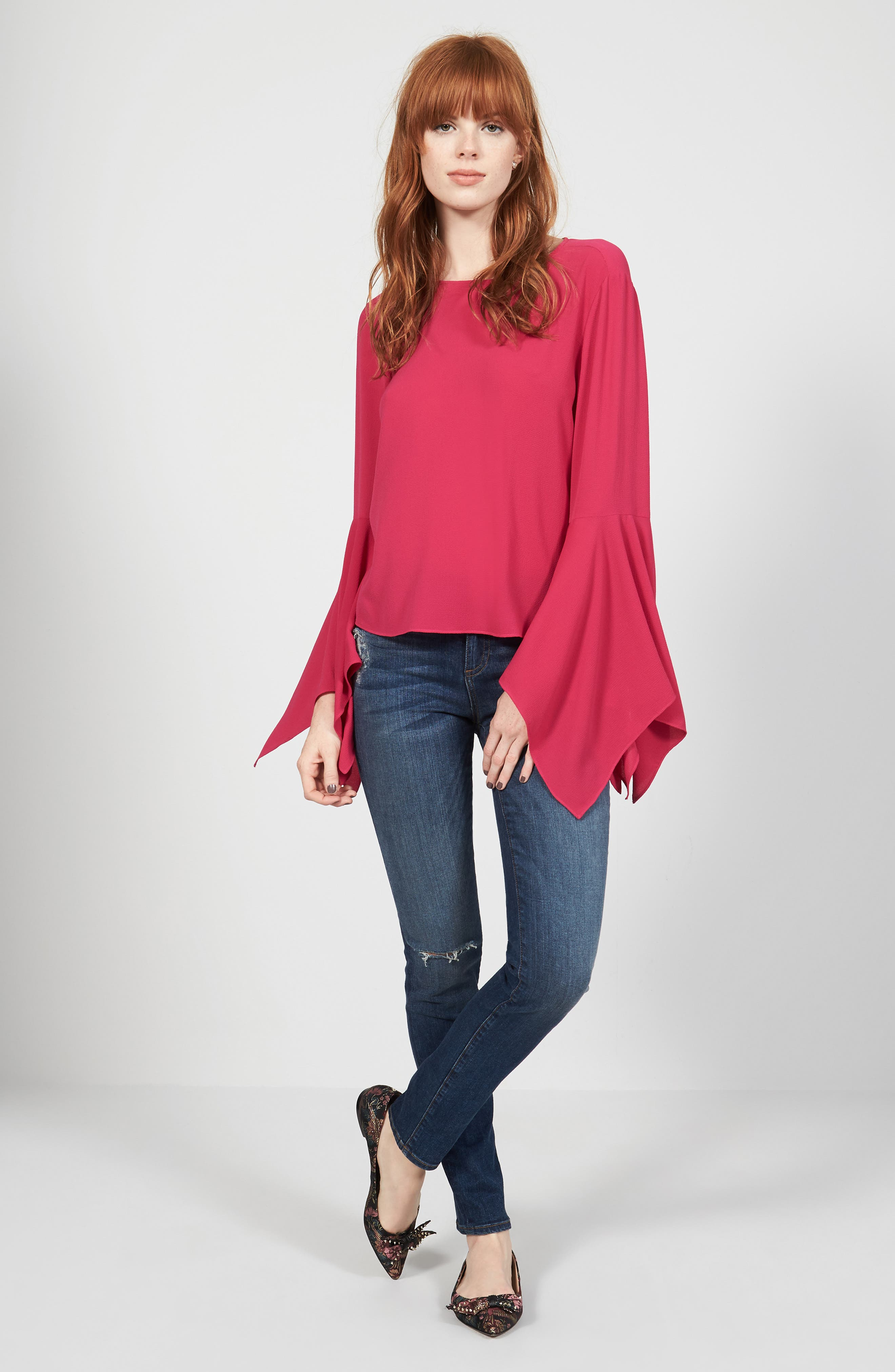 Vince Camuto Blouse & KUT from the Kloth Jeans Outfit with Accessories