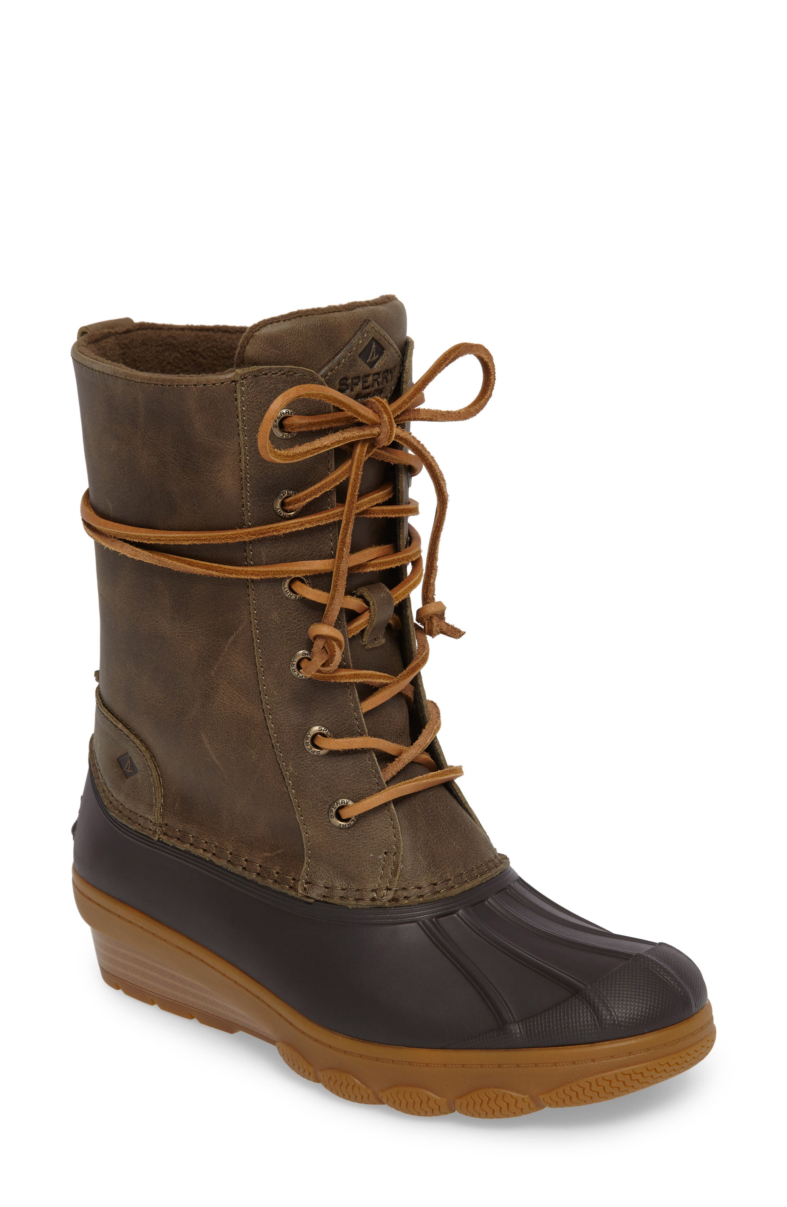 Sperry Saltwater Wedge Reeve Waterproof Boot (Women)