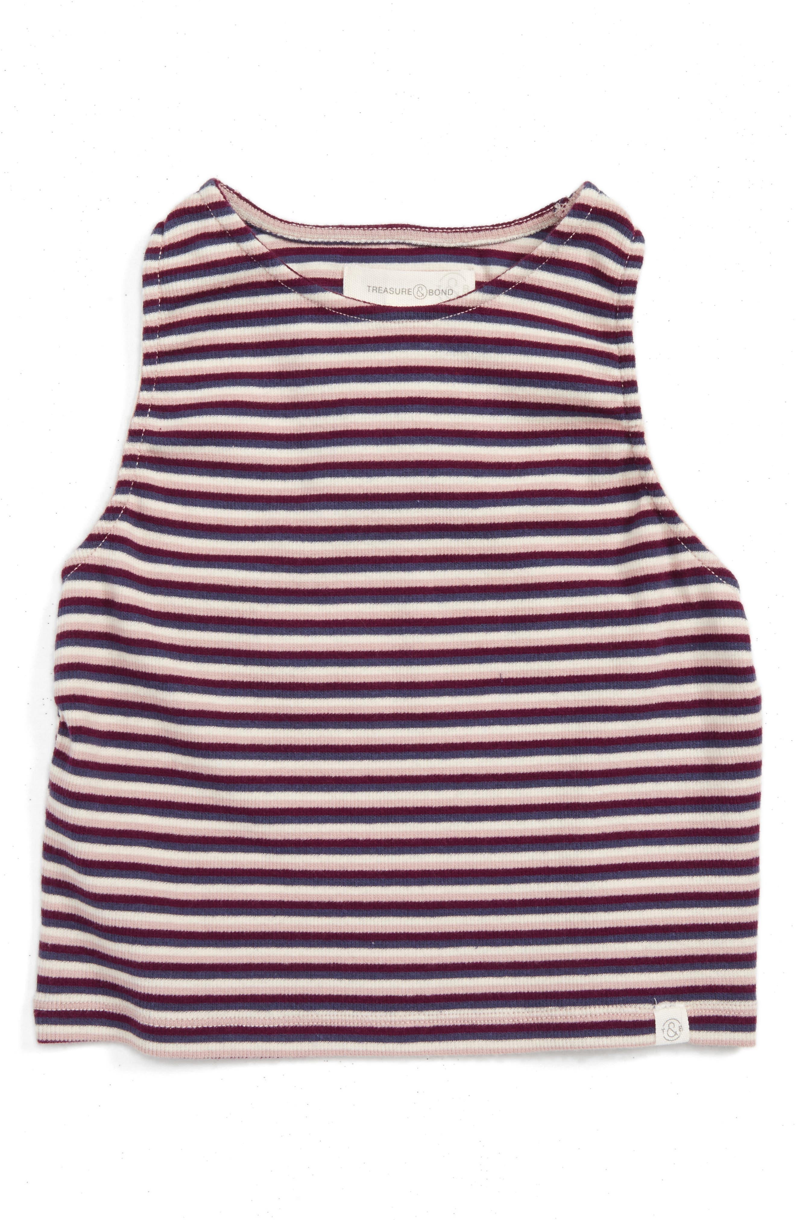 Treasure & Bond Stripe Crop Top (Little Girls & Big Girls)