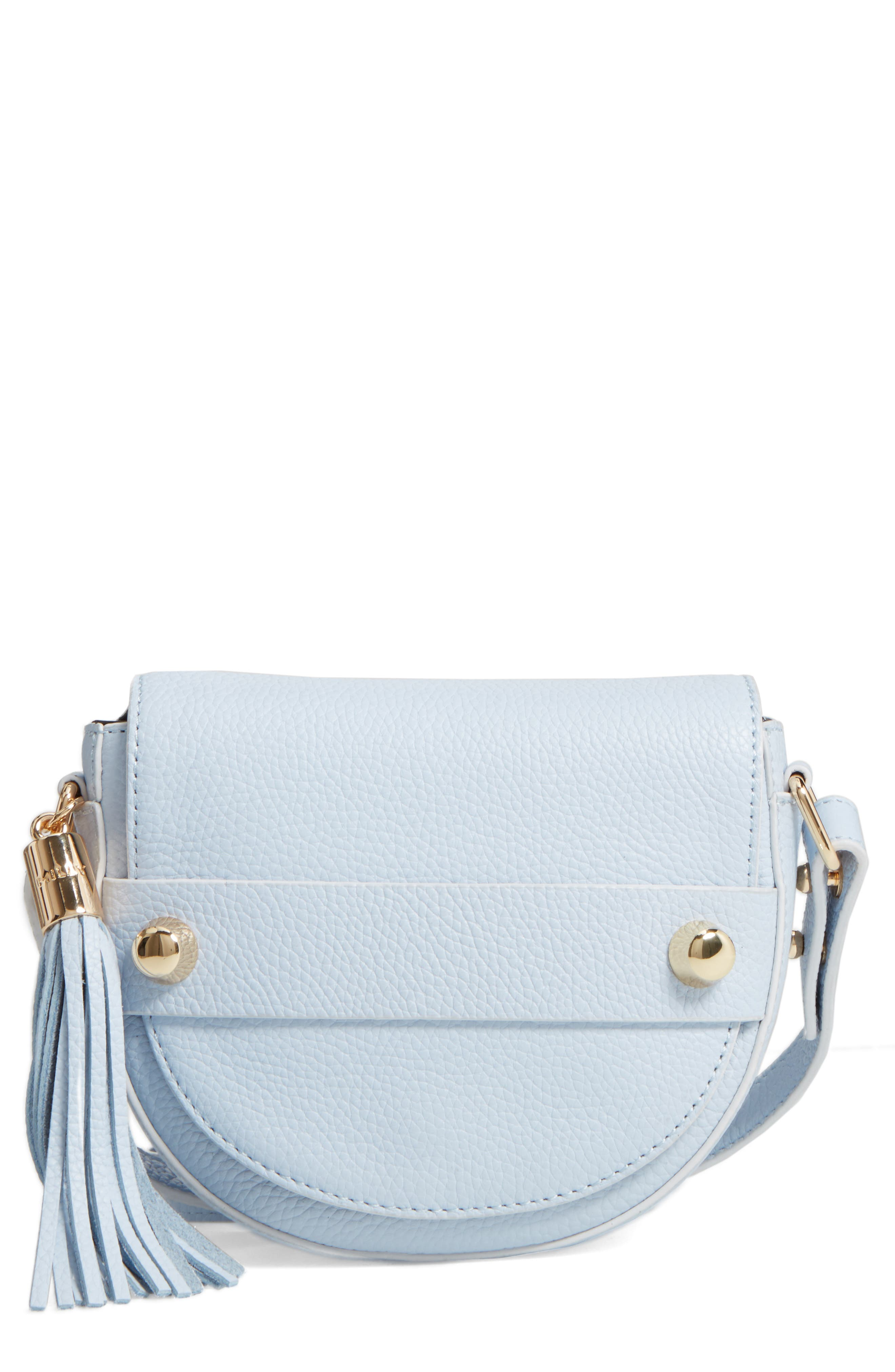 Milly Astor Leather Crossbody Saddle Bag