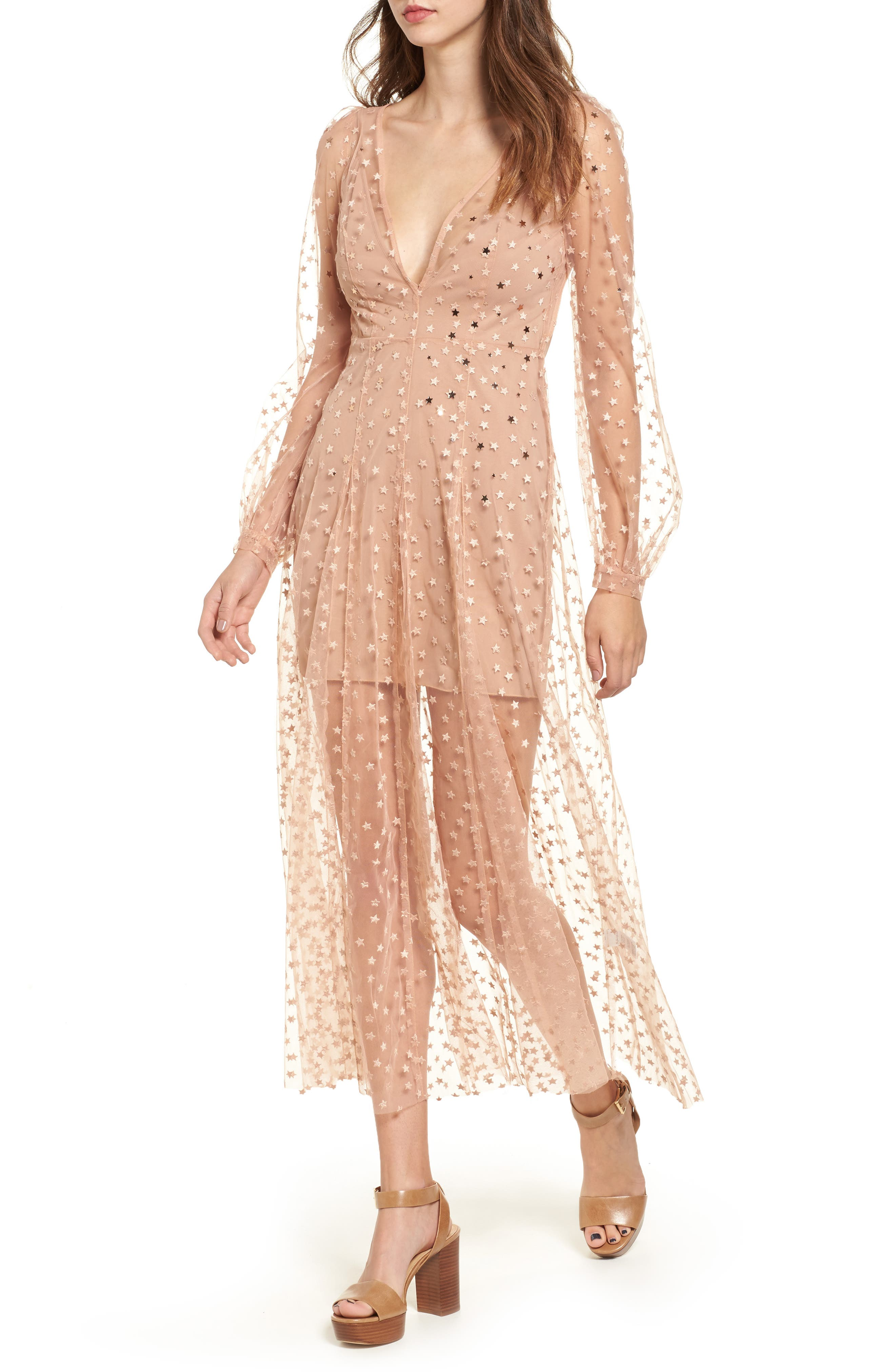 For Love & Lemons All That Glitters Midi Dress