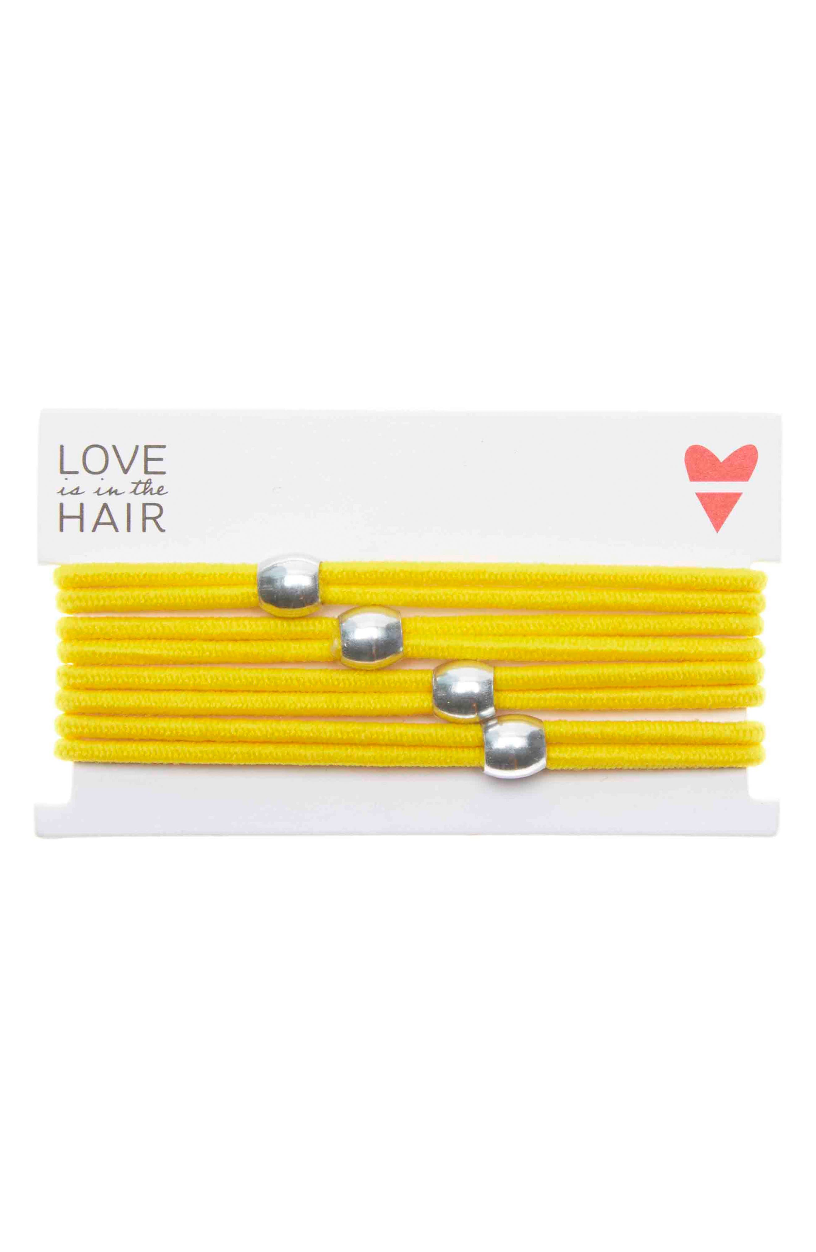 Love Is In The Hair Racer 4-Pack Hair Ties