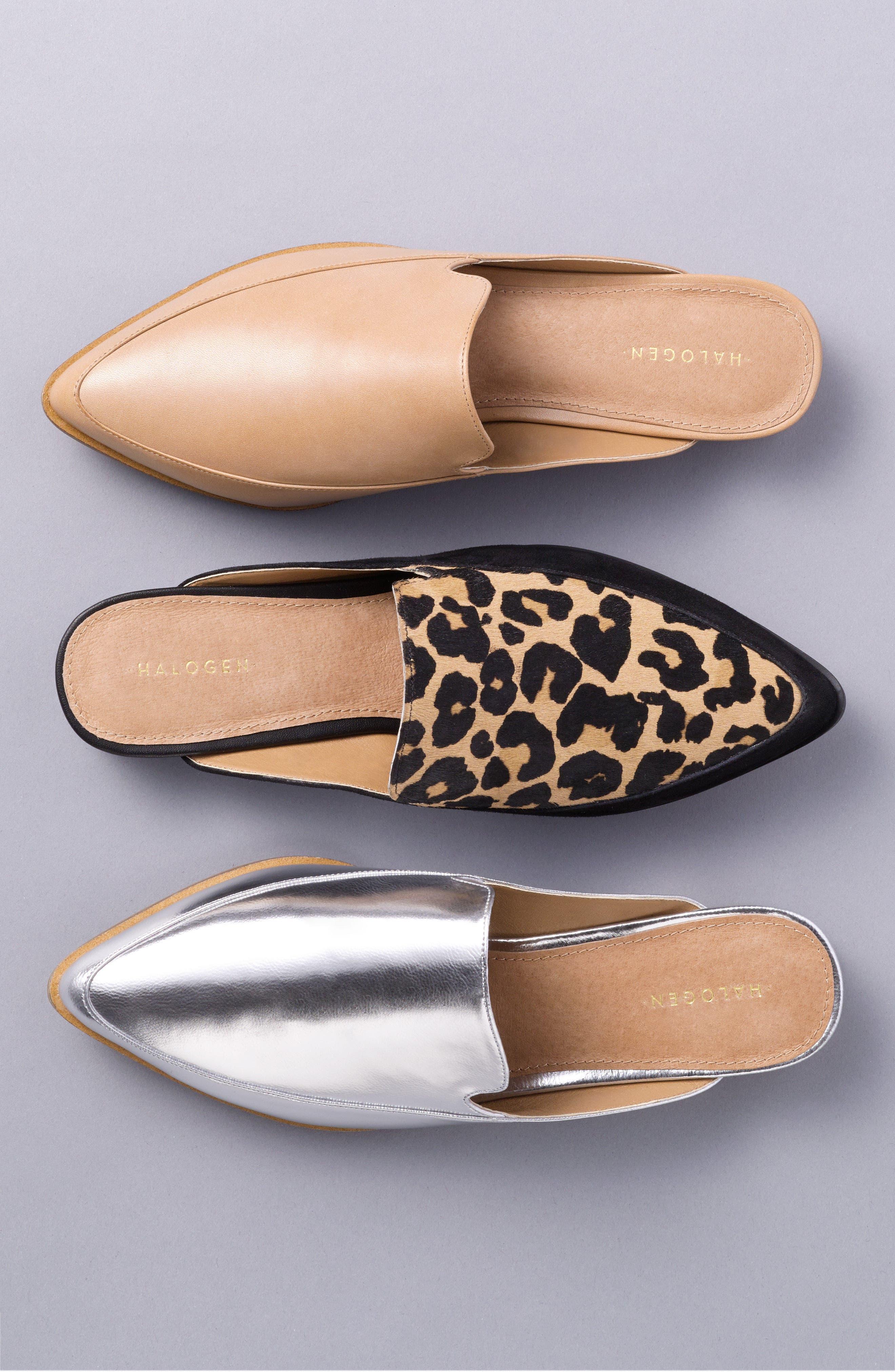 Alternate Image 8  - Halogen® Corbin Genuine Calf Hair Slide Loafer (Women)