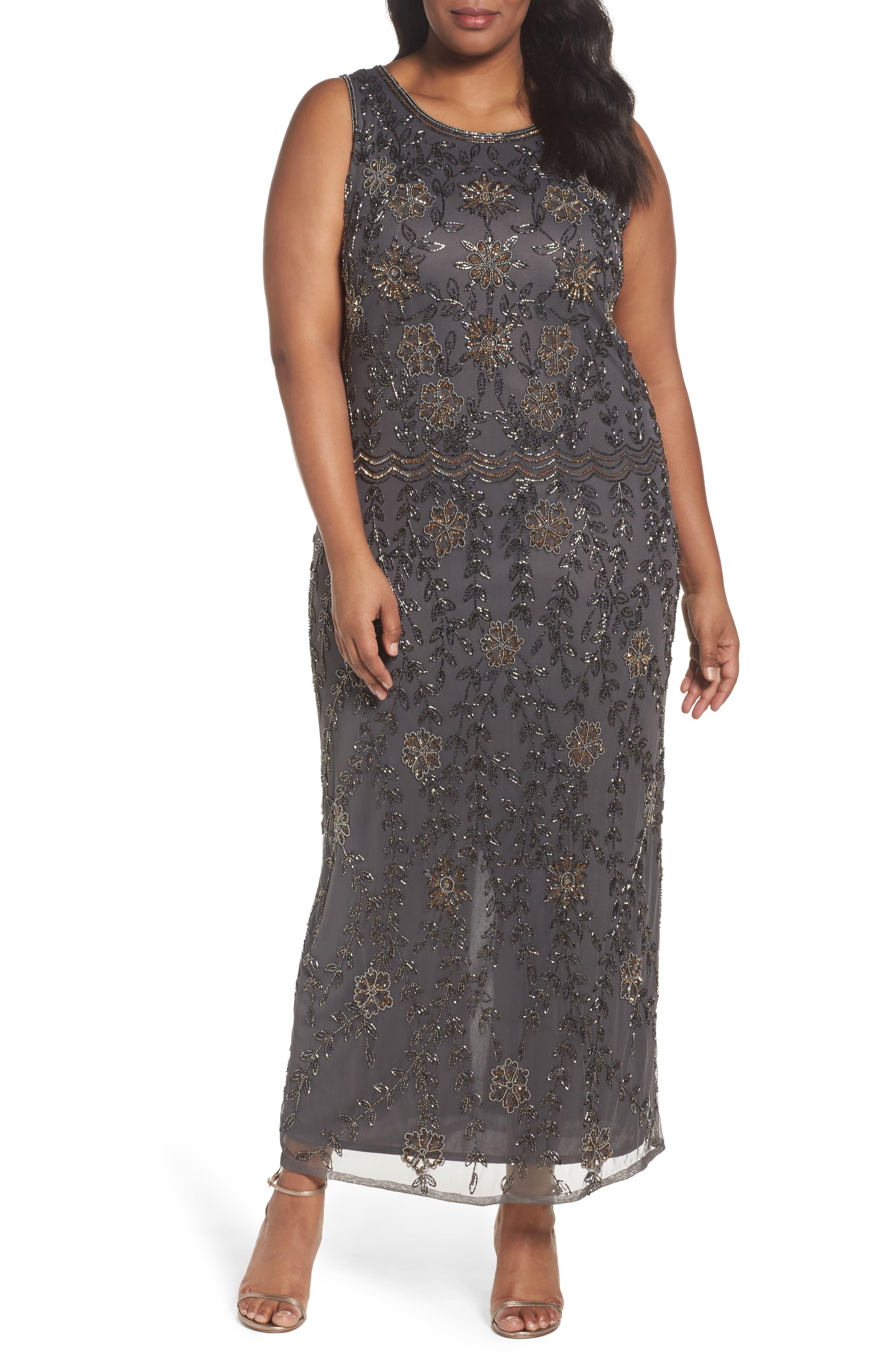 Pisarro Nights Embellished Maxi Dress (Plus Size)