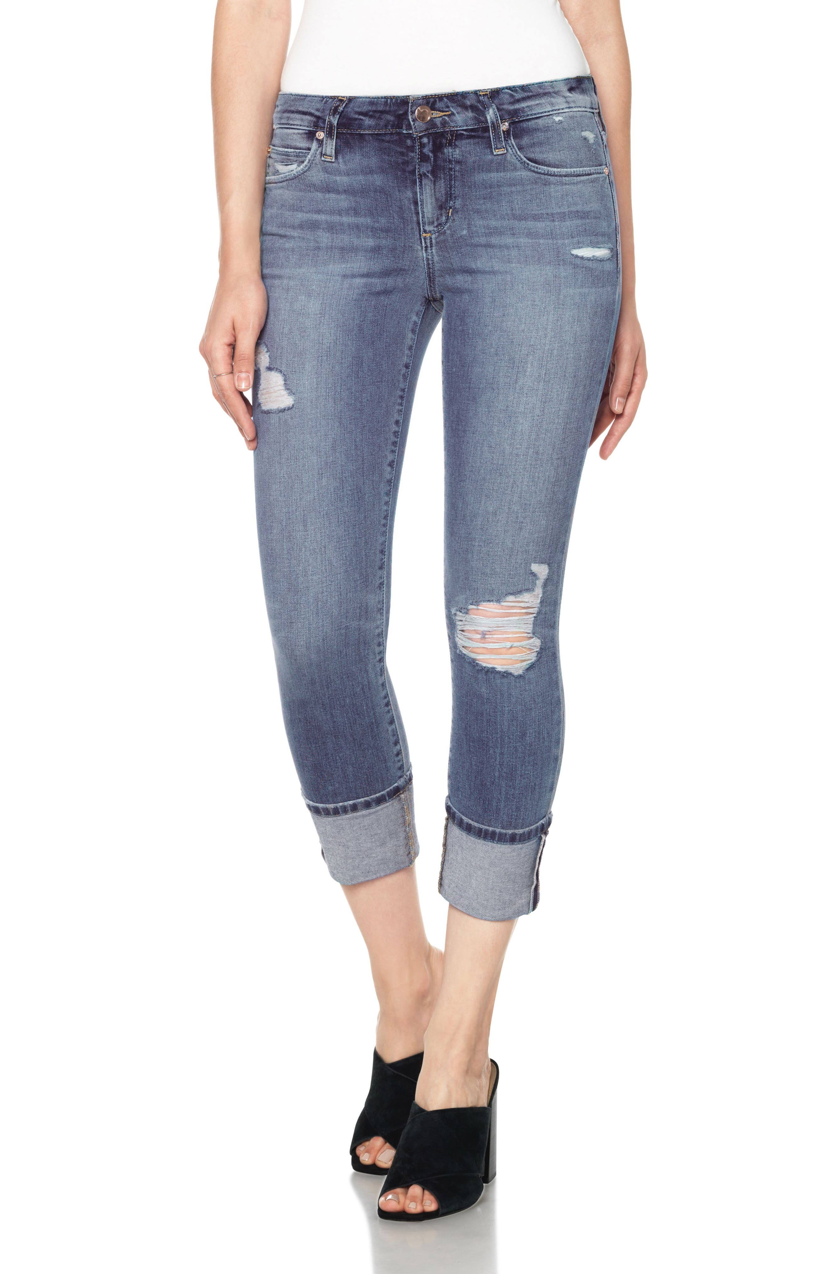 Joe's Icon Cuffed Crop Skinny Jeans (Torrance)