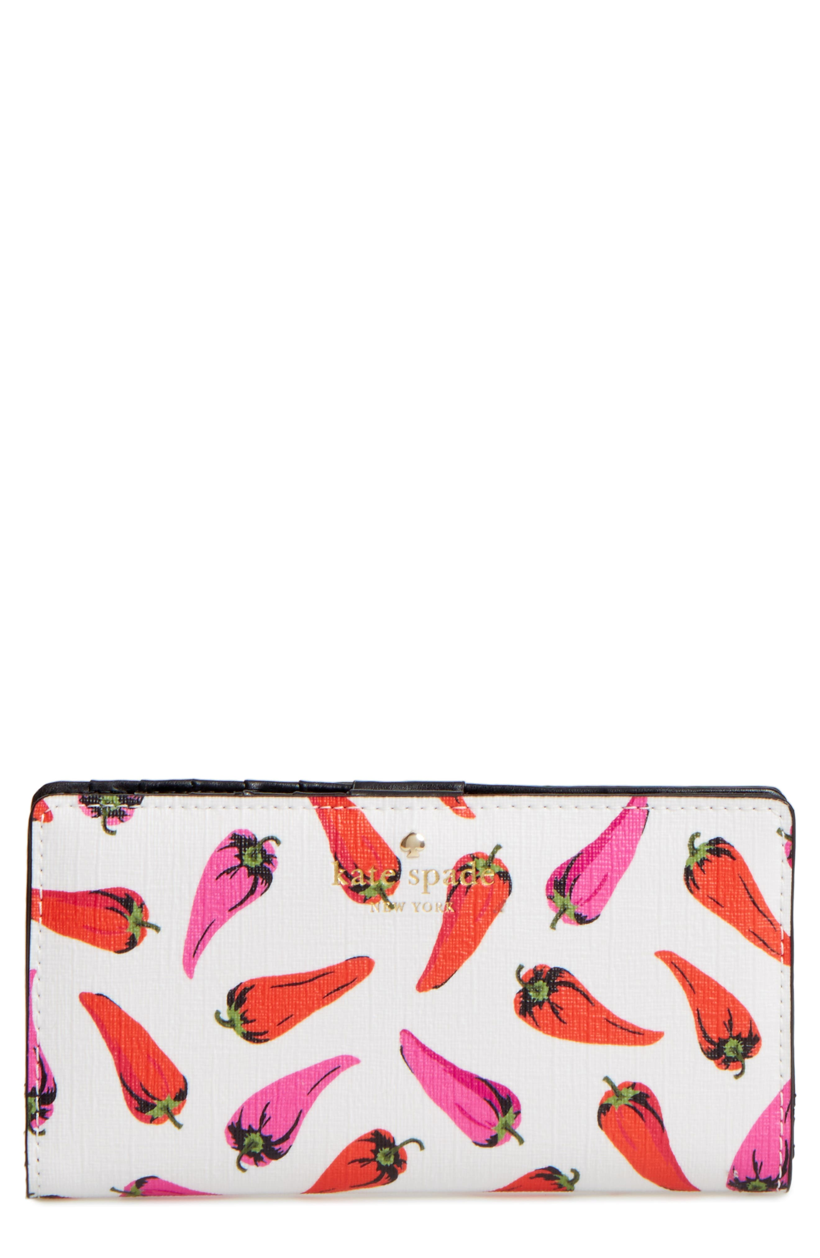 kate spade new york stacy hot pepper print wallet
