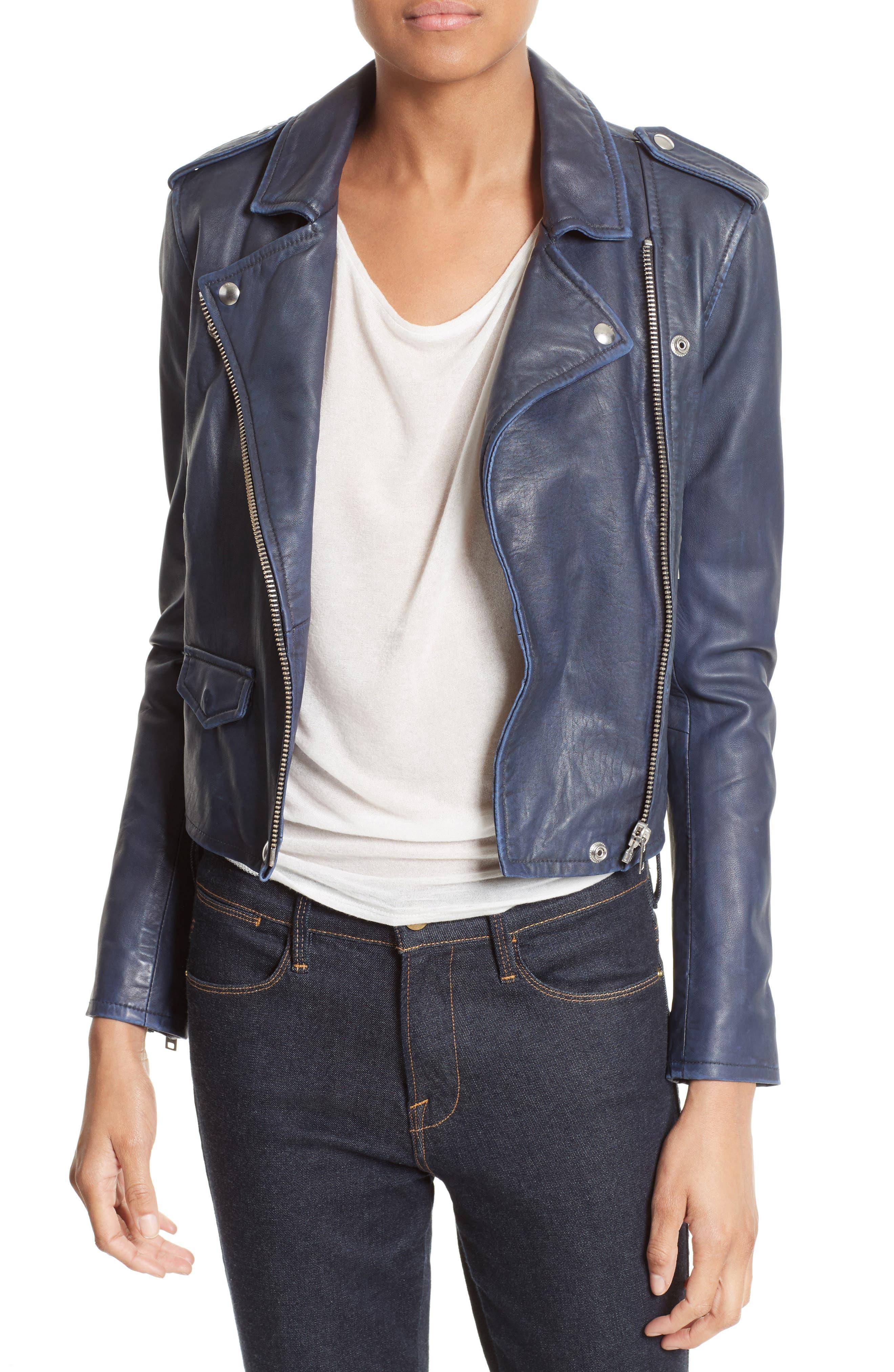 Alternate Image 1 Selected - IRO 'Ashville' Leather Jacket