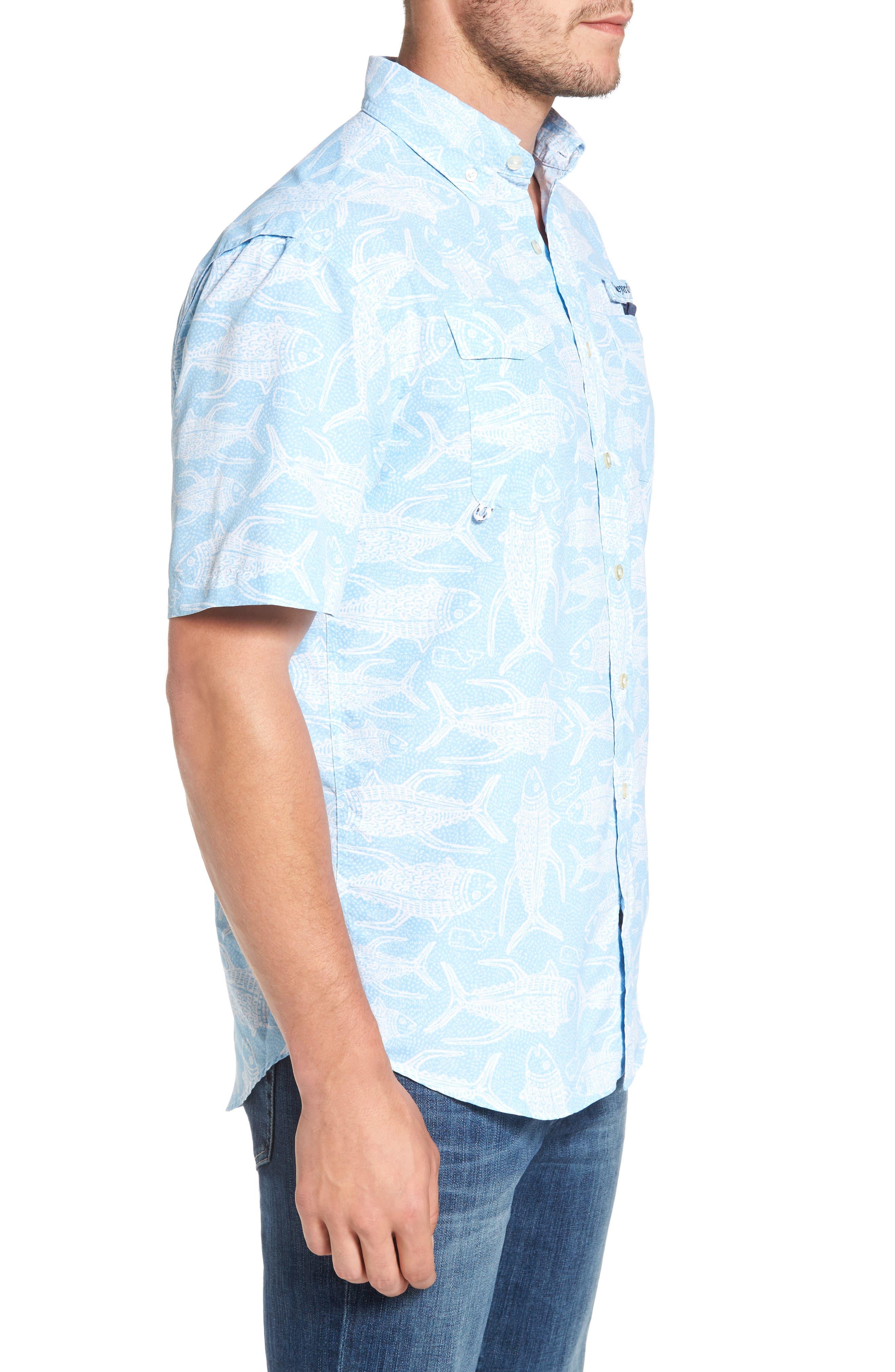 Alternate Image 3  - Vineyard Vines Tuna Batic Harbor Short Sleeve Sport Shirt