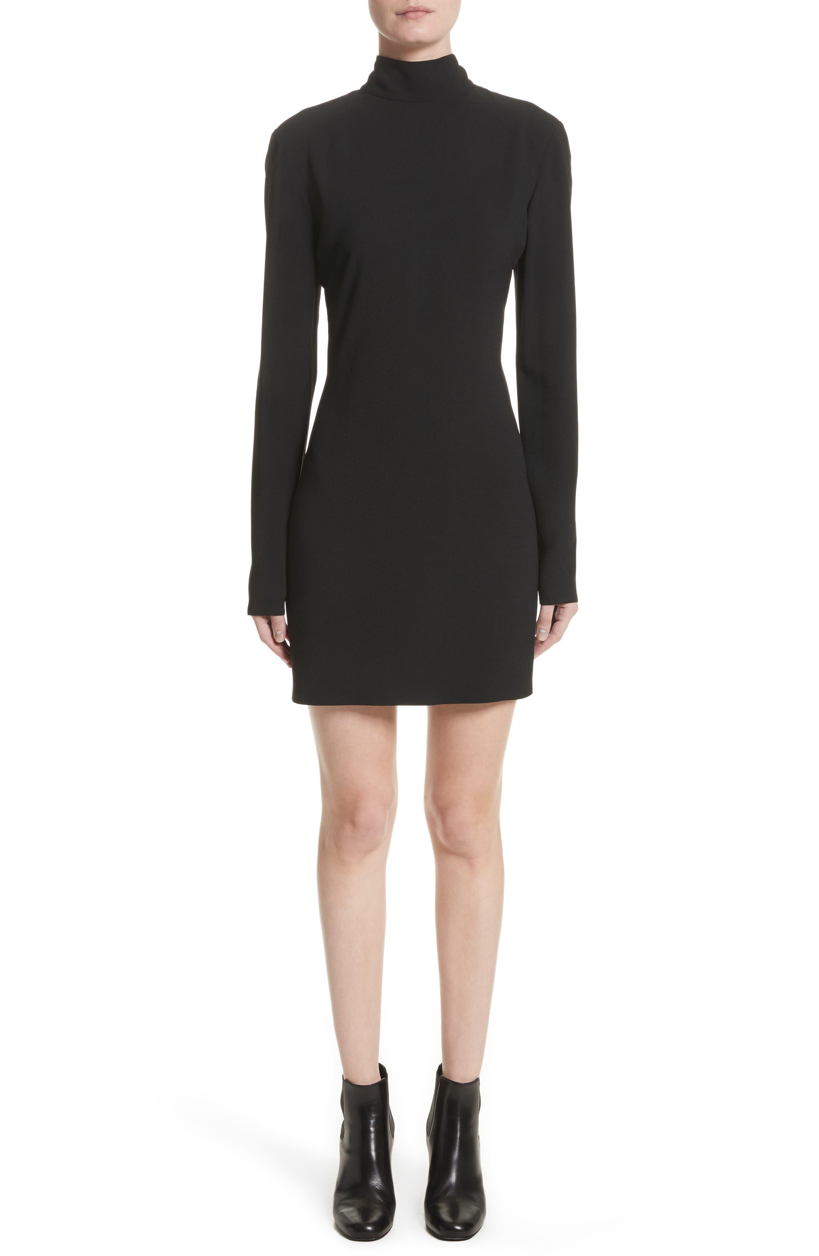 Saint Laurent Open Back Mini Dress