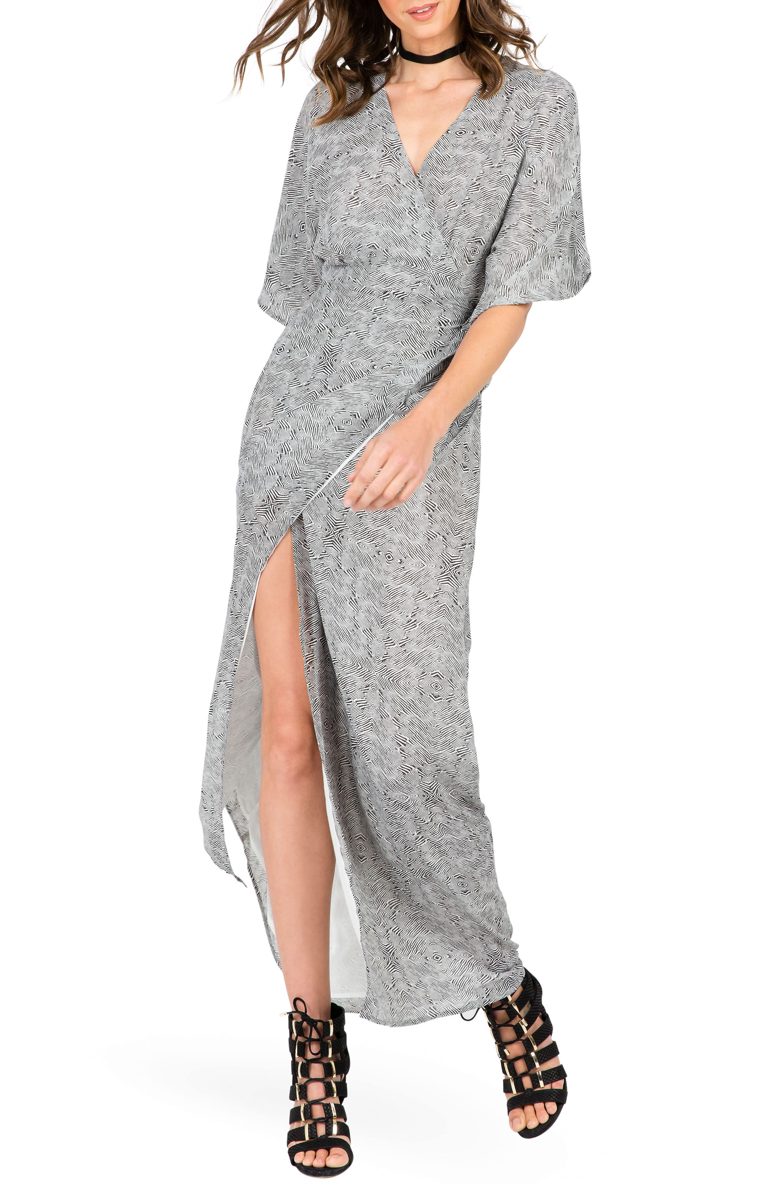 Standards & Practices Olivia Wrap Maxi Dress