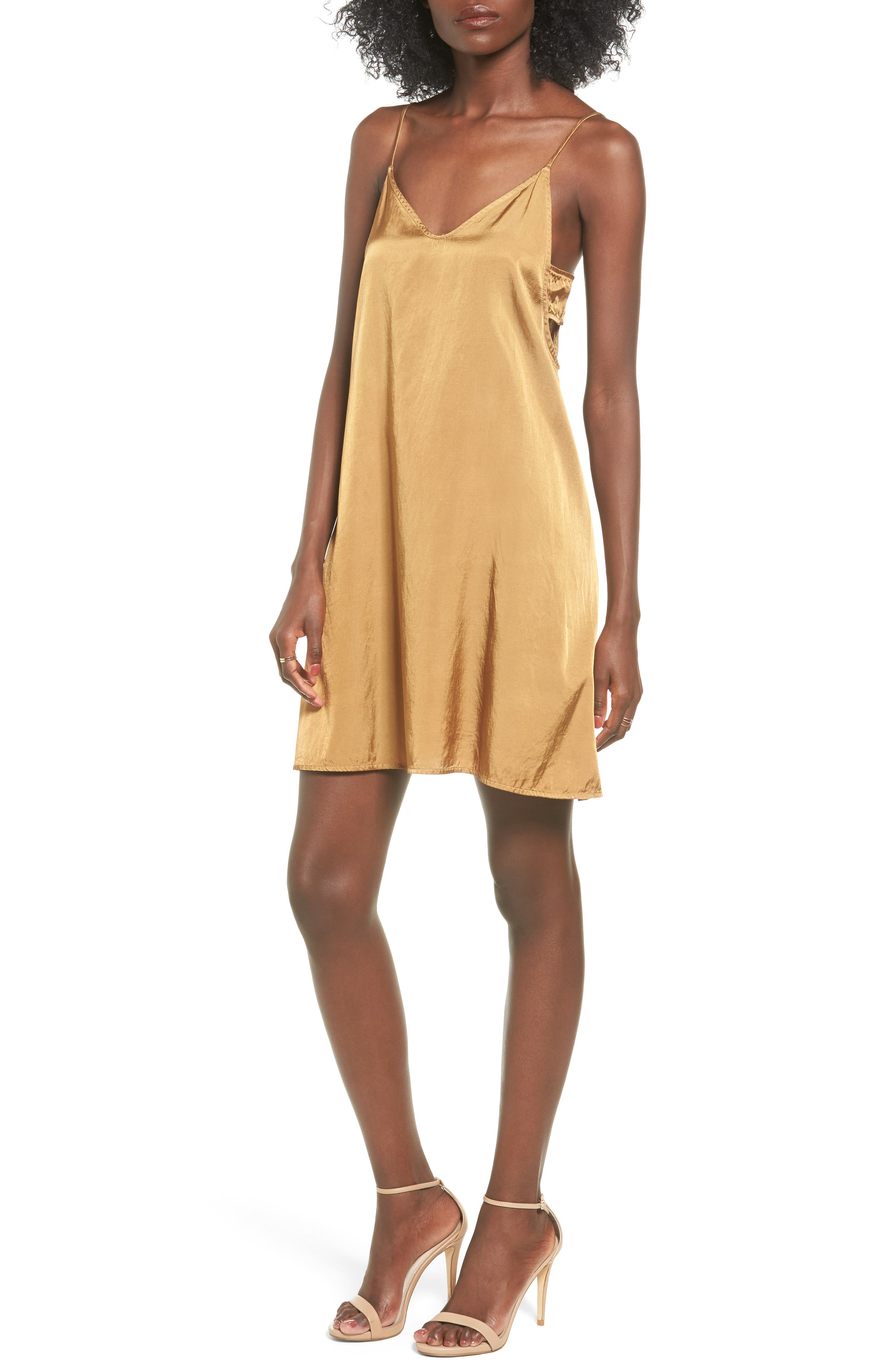 PST by Project Social T Brushed Satin Slipdress