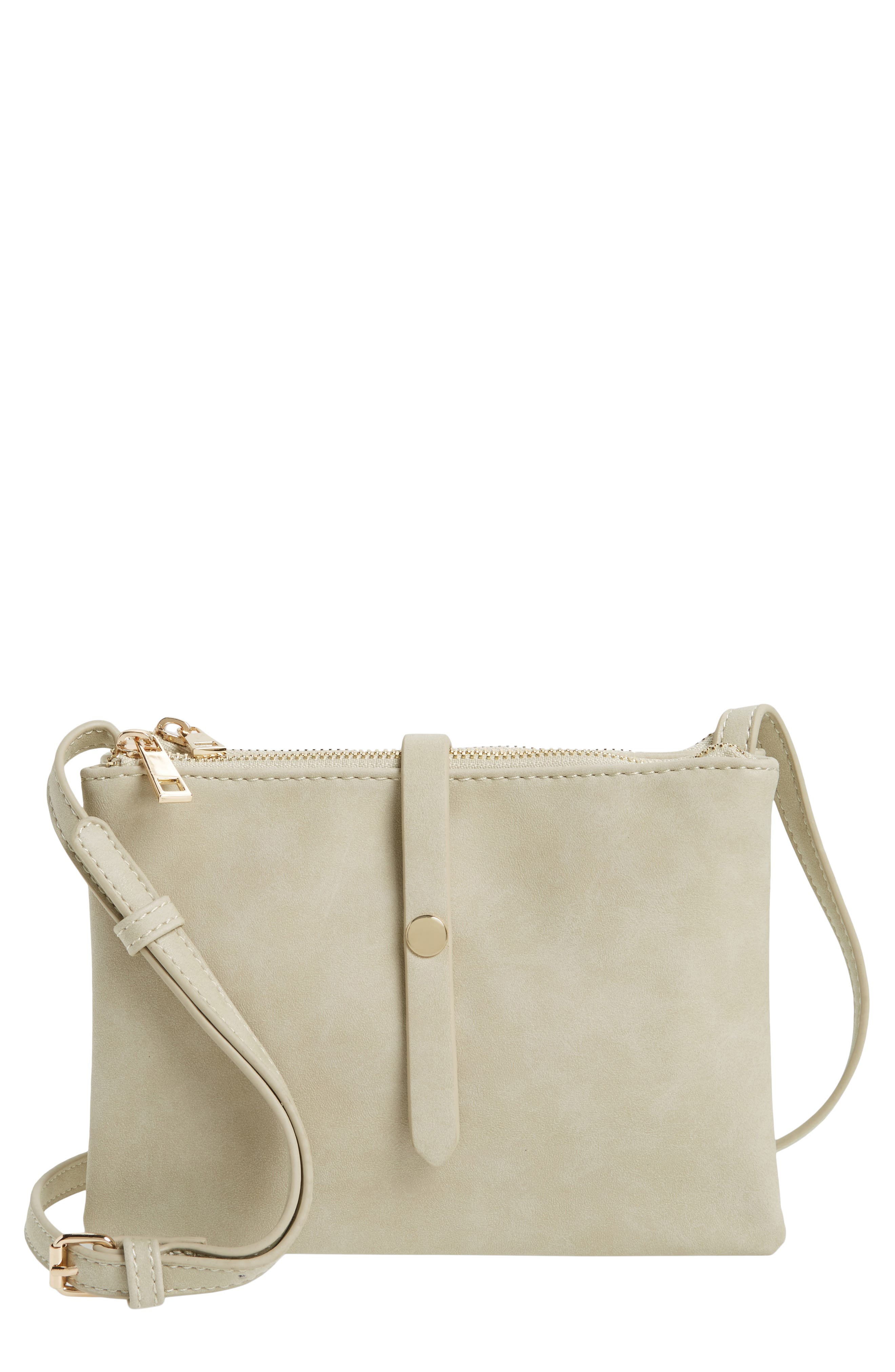 BP. Faux Leather Double Pouch Crossbody Bag