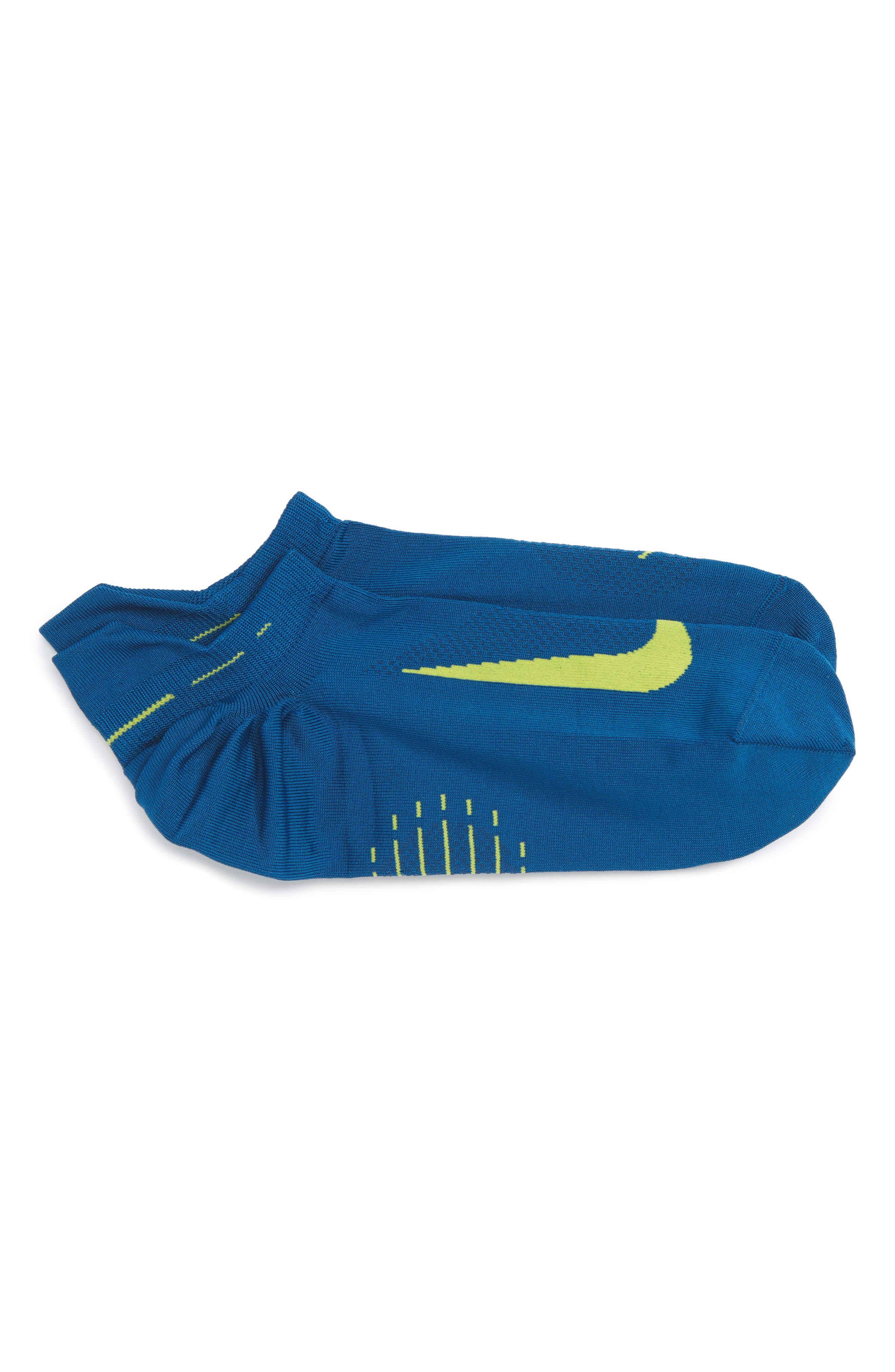 Nike 'Elite' Lightweight No-Show Tab Running Socks (Men)