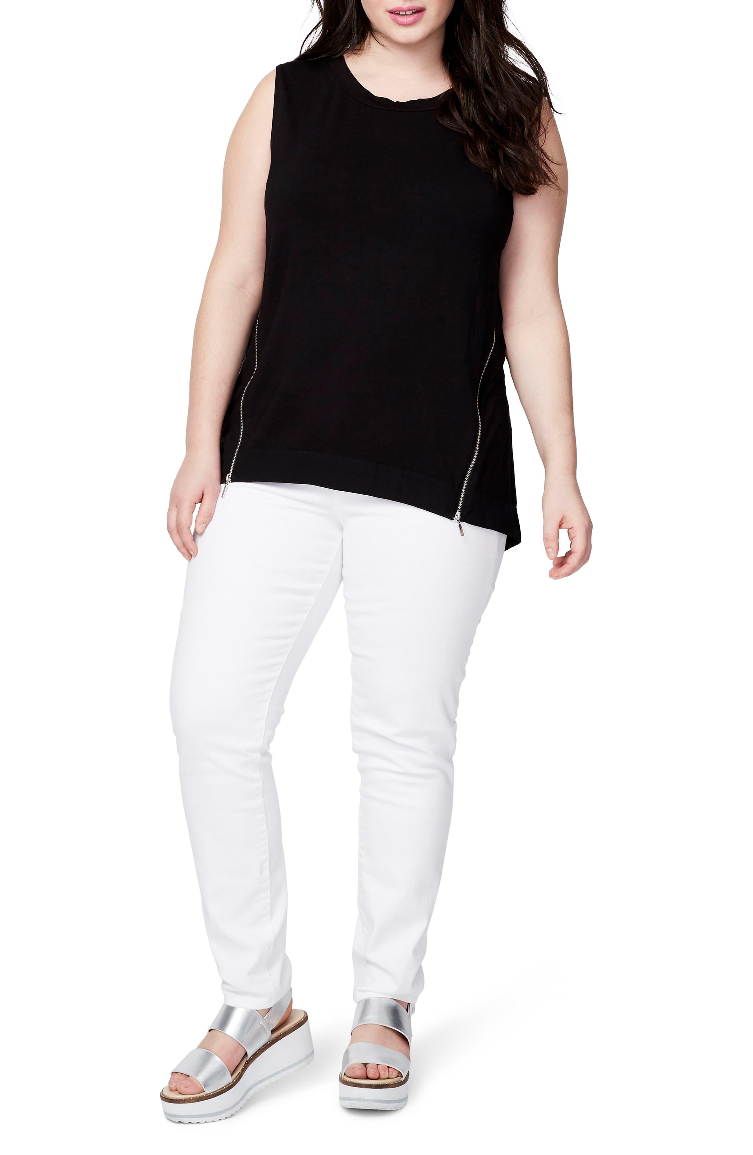 RACHEL Rachel Roy Zip Knit Top (Plus Size)