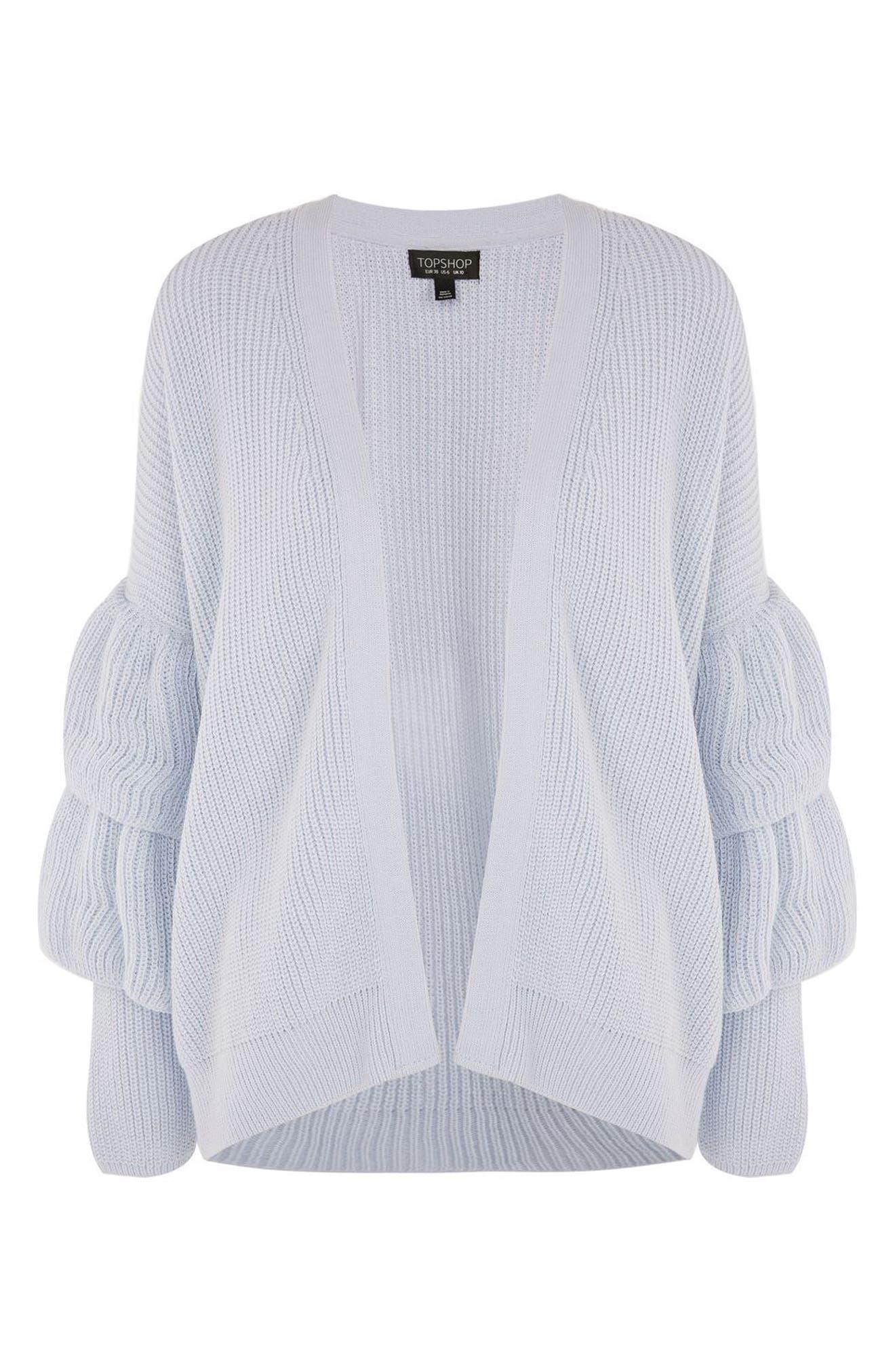 Alternate Image 5  - Topshop Layered Ruffle Sleeve Cardigan