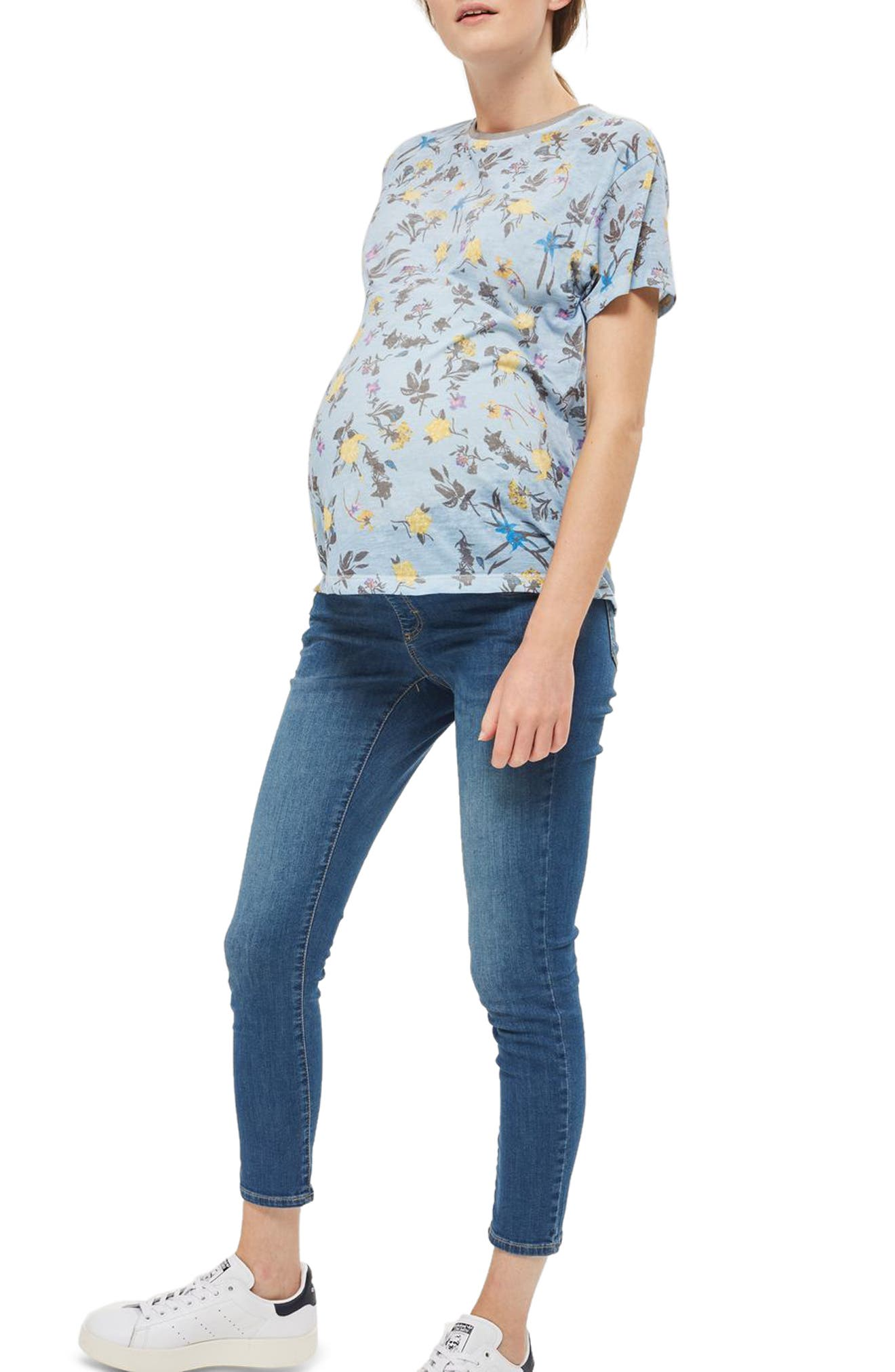 Topshop Floral Maternity Tee