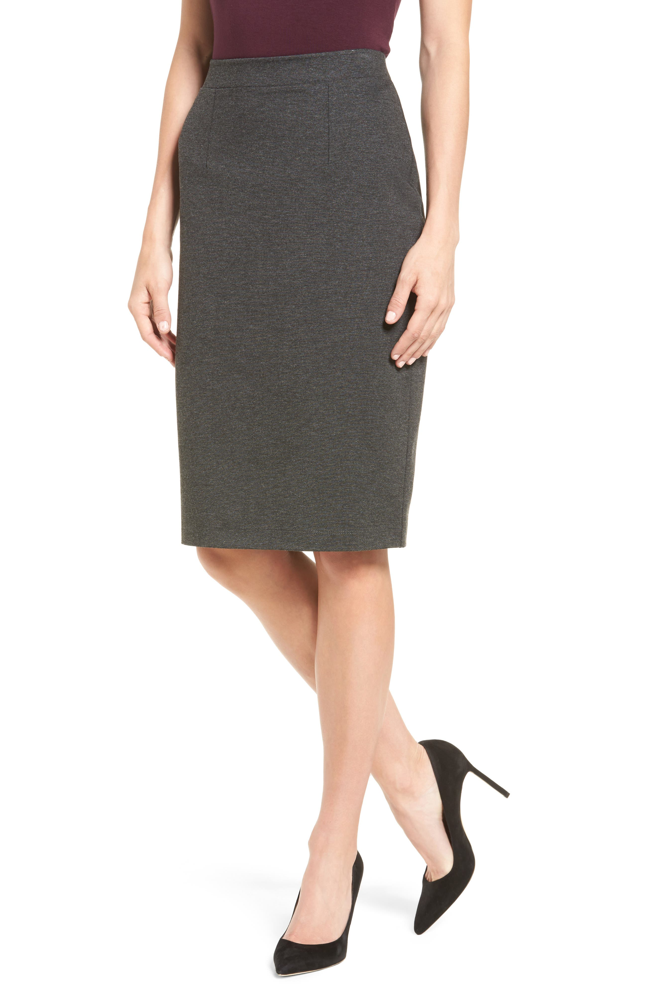 Halogen® Ponte Pencil Skirt (Regular & Petite)