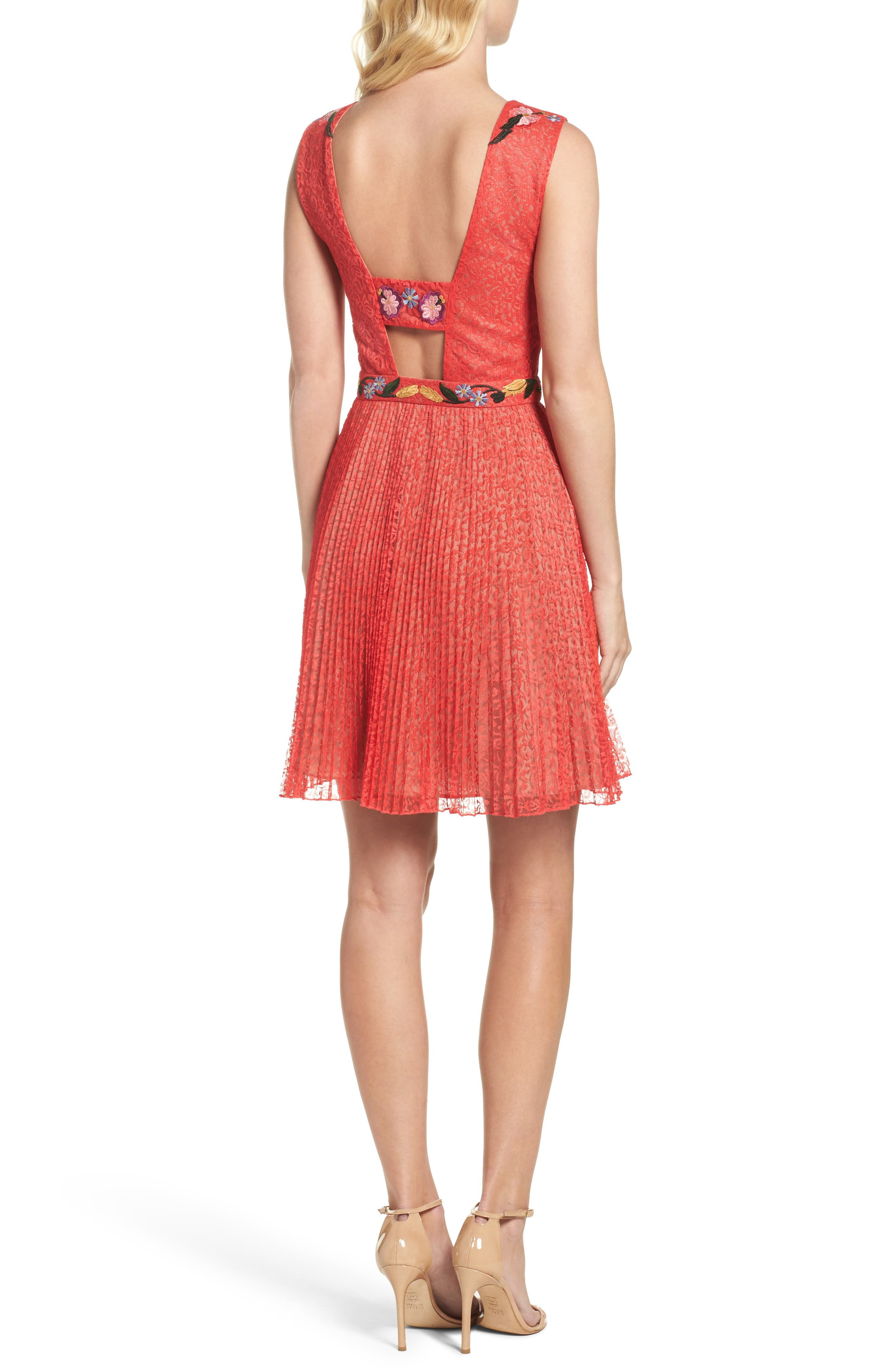 Alternate Image 2  - French Connection Lace Fit & Flare Dress