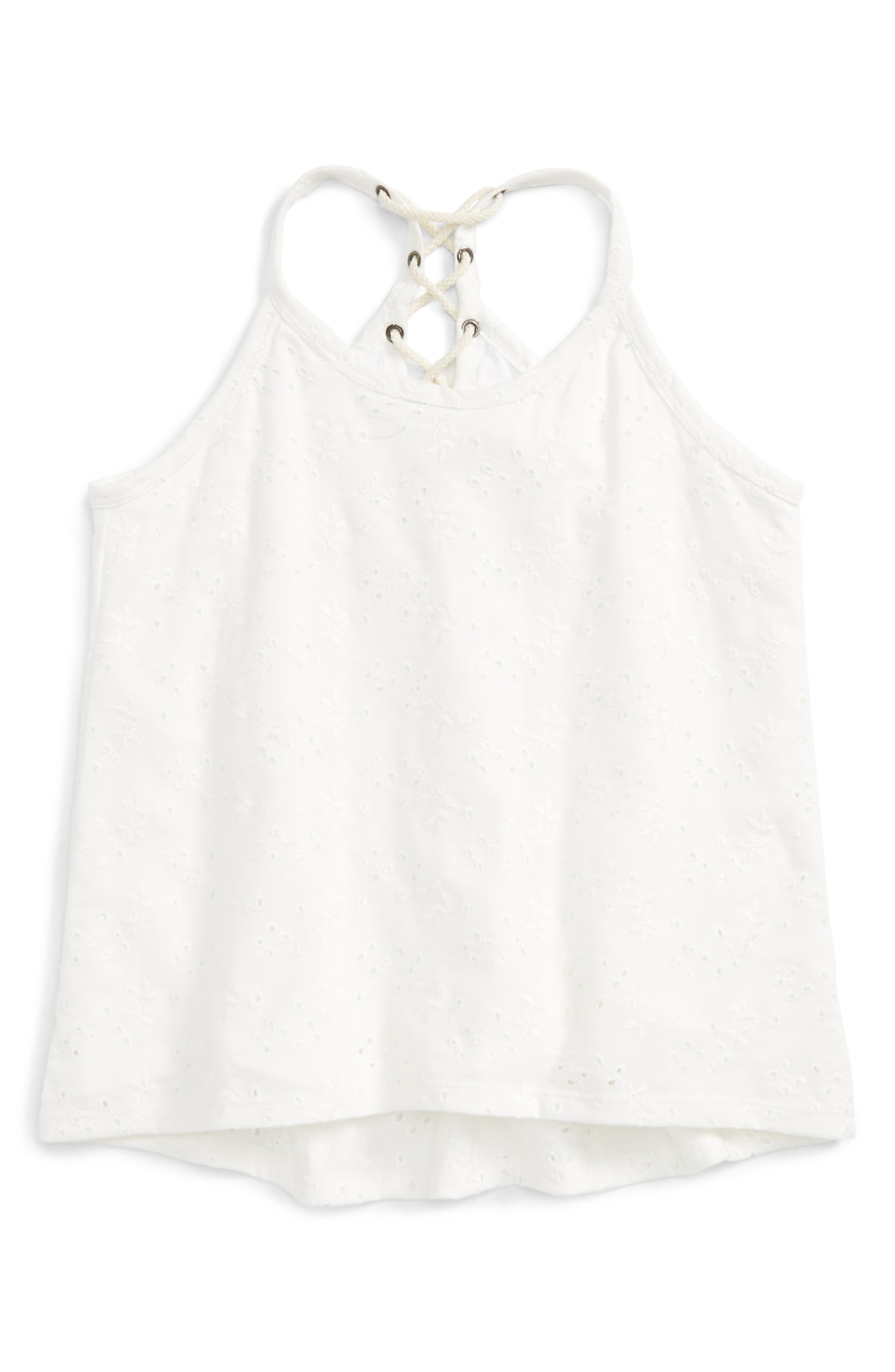 Maddie Eyelet Tank (Big Girls)