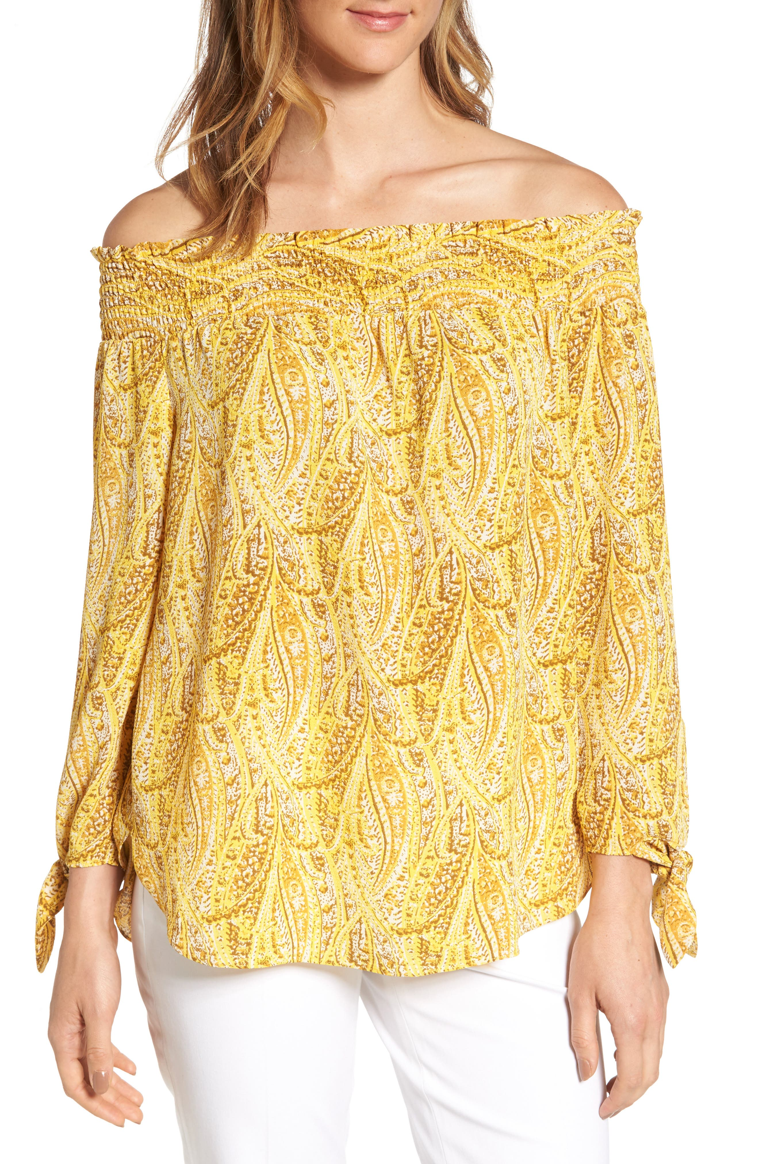 MICHAEL Michael Kors Hatcher Off the Shoulder Top