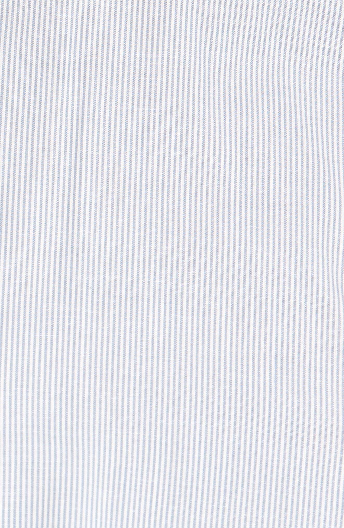 Alternate Image 5  - Pleione Tie Sleeve Poplin Blouse (Regular & Petite)