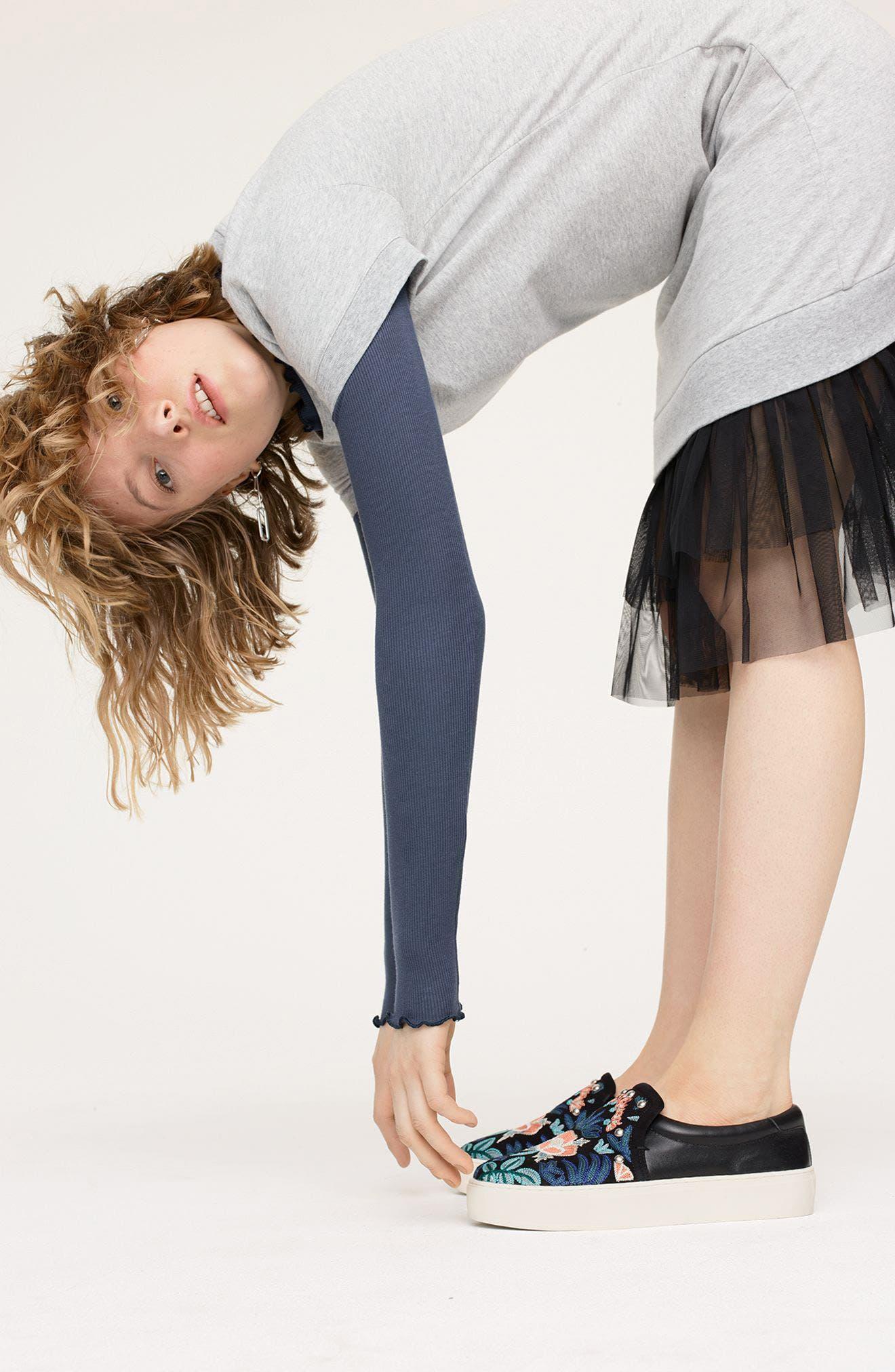 Alternate Image 6  - Rebecca Minkoff Noelle Embellished Slip-On Platform Sneaker (Women)