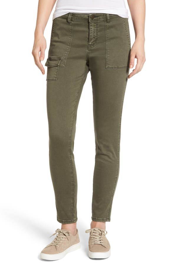 Main Image - Caslon® Slim Utility Pants (Regular & Petite )