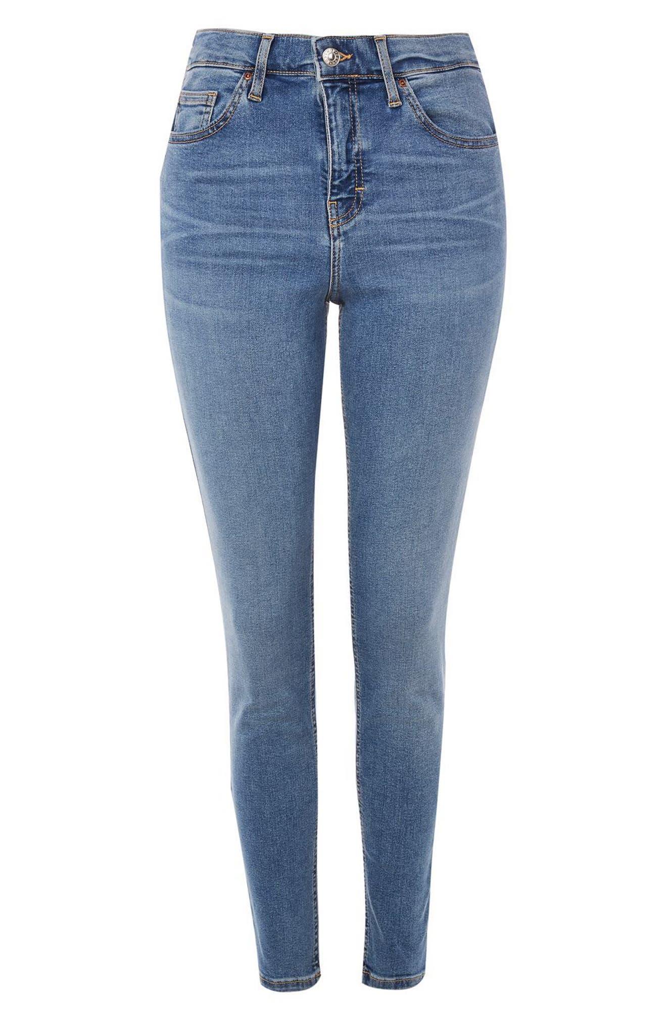 Alternate Image 4  - Topshop Jamie High Waist Skinny Jeans