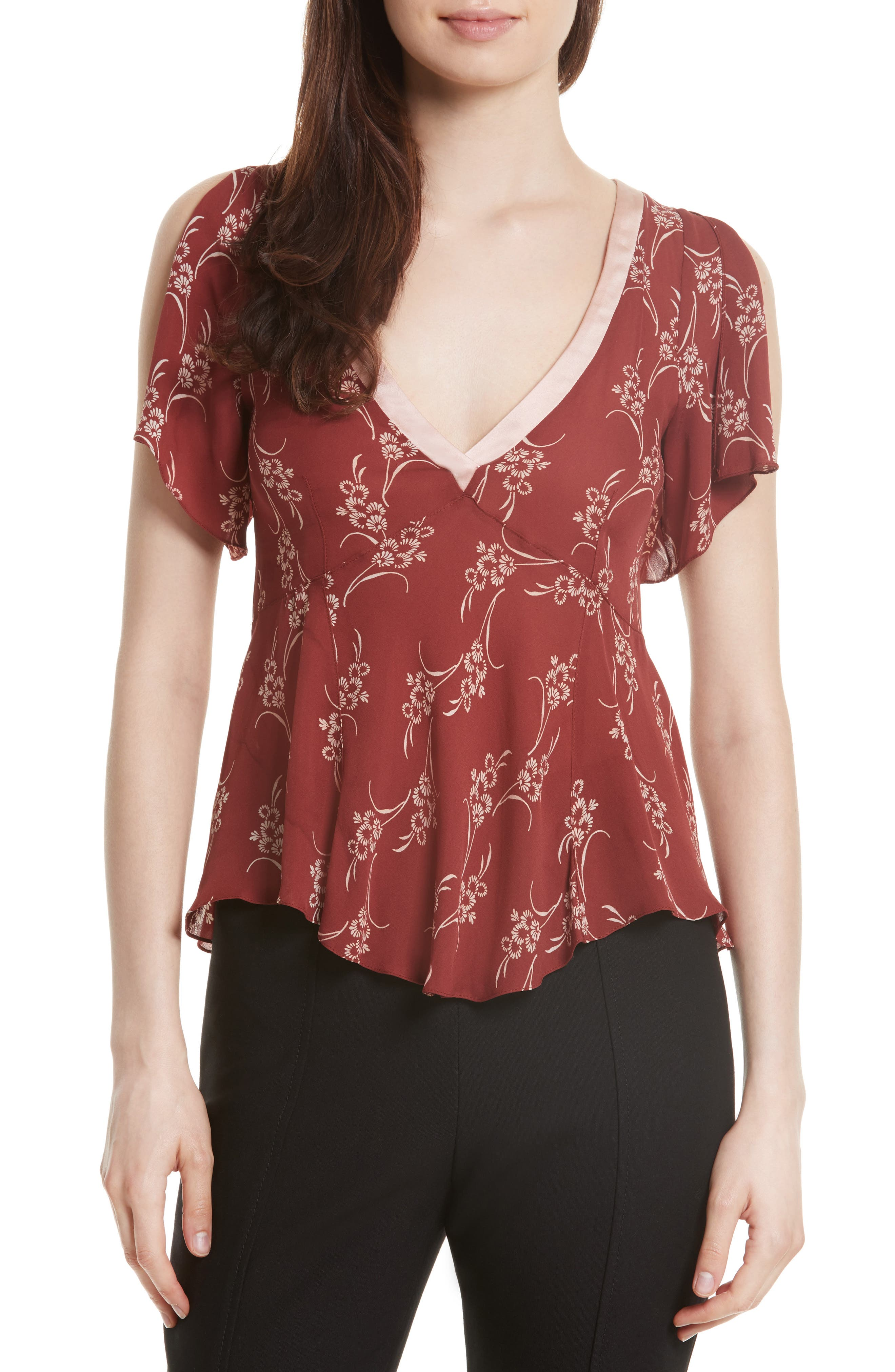 Cinq à Sept Whitley Silk Top