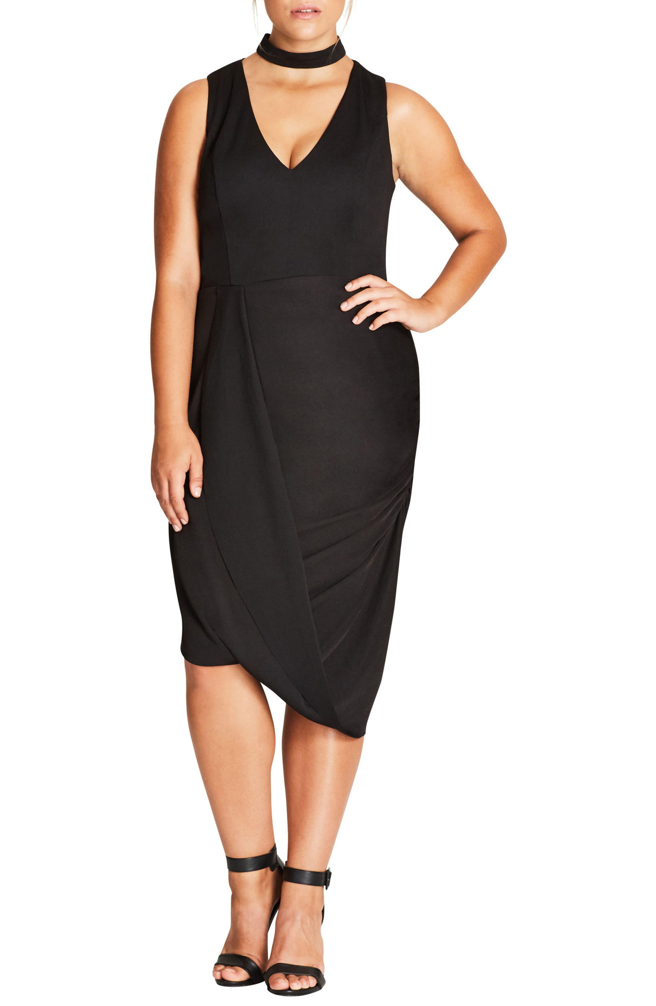 City Chic Sexy Choker Dress (Plus Size)